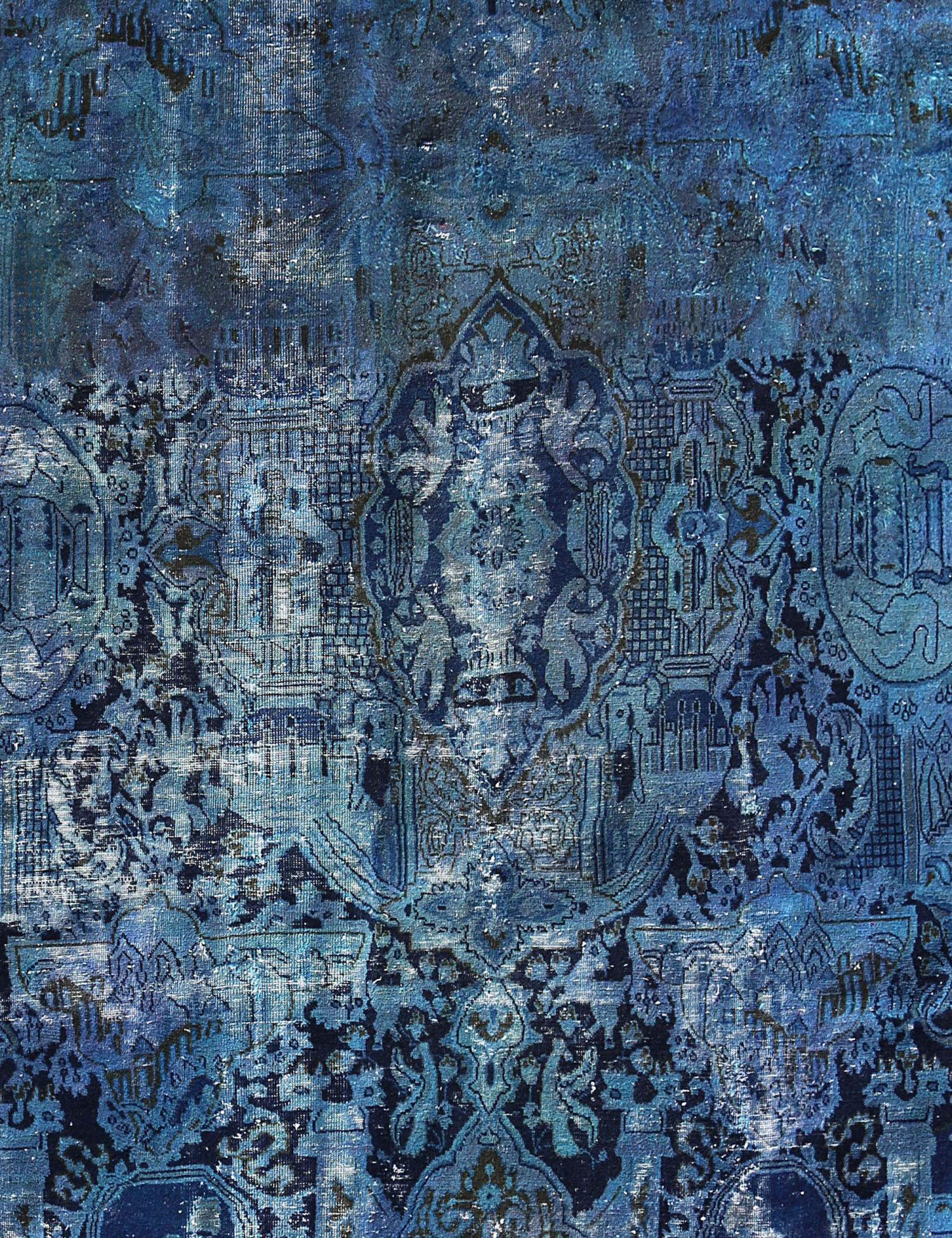 Tappeto Vintage  blu <br/>318 x 258 cm