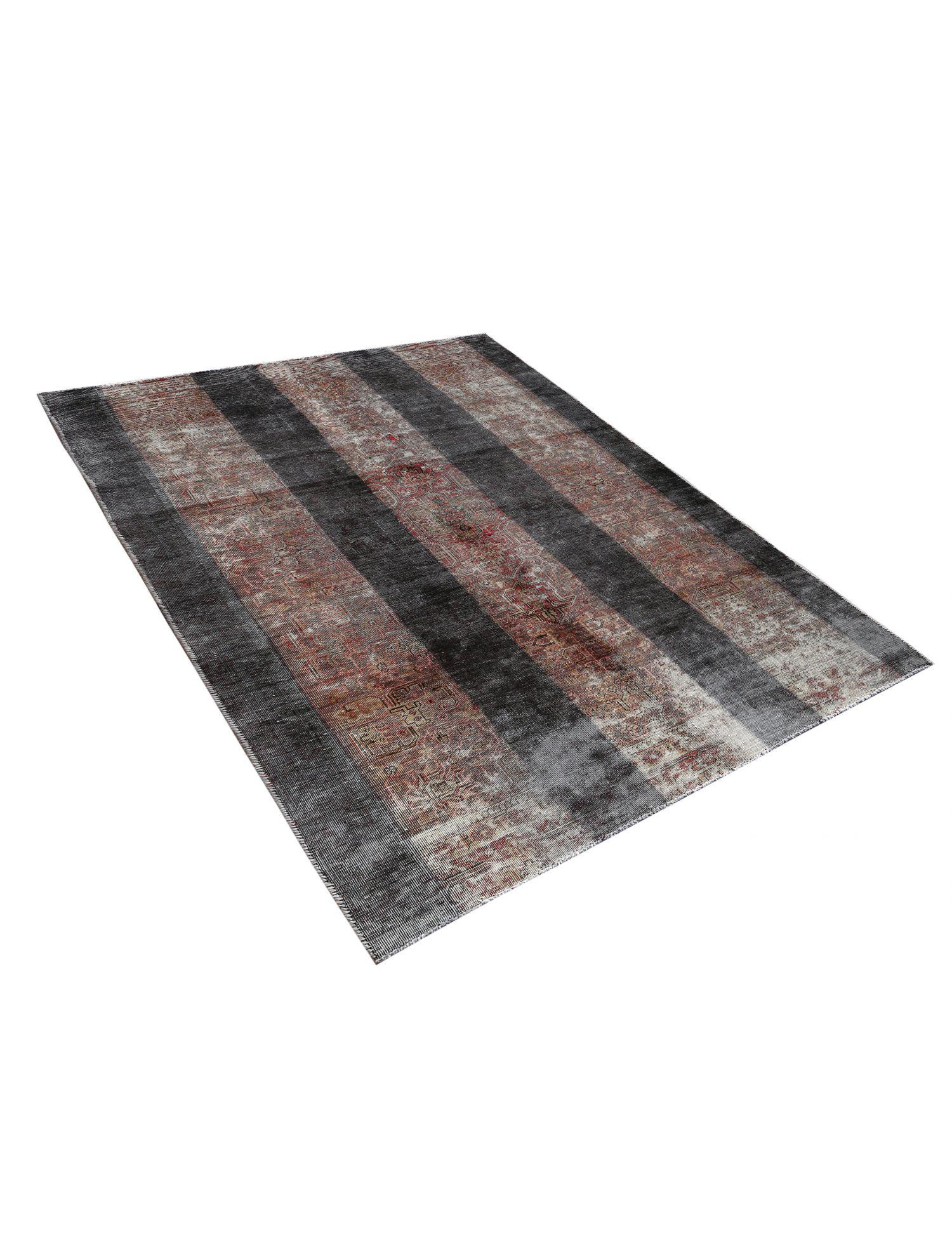 Retro Teppich  schwarz <br/>241 x 139 cm