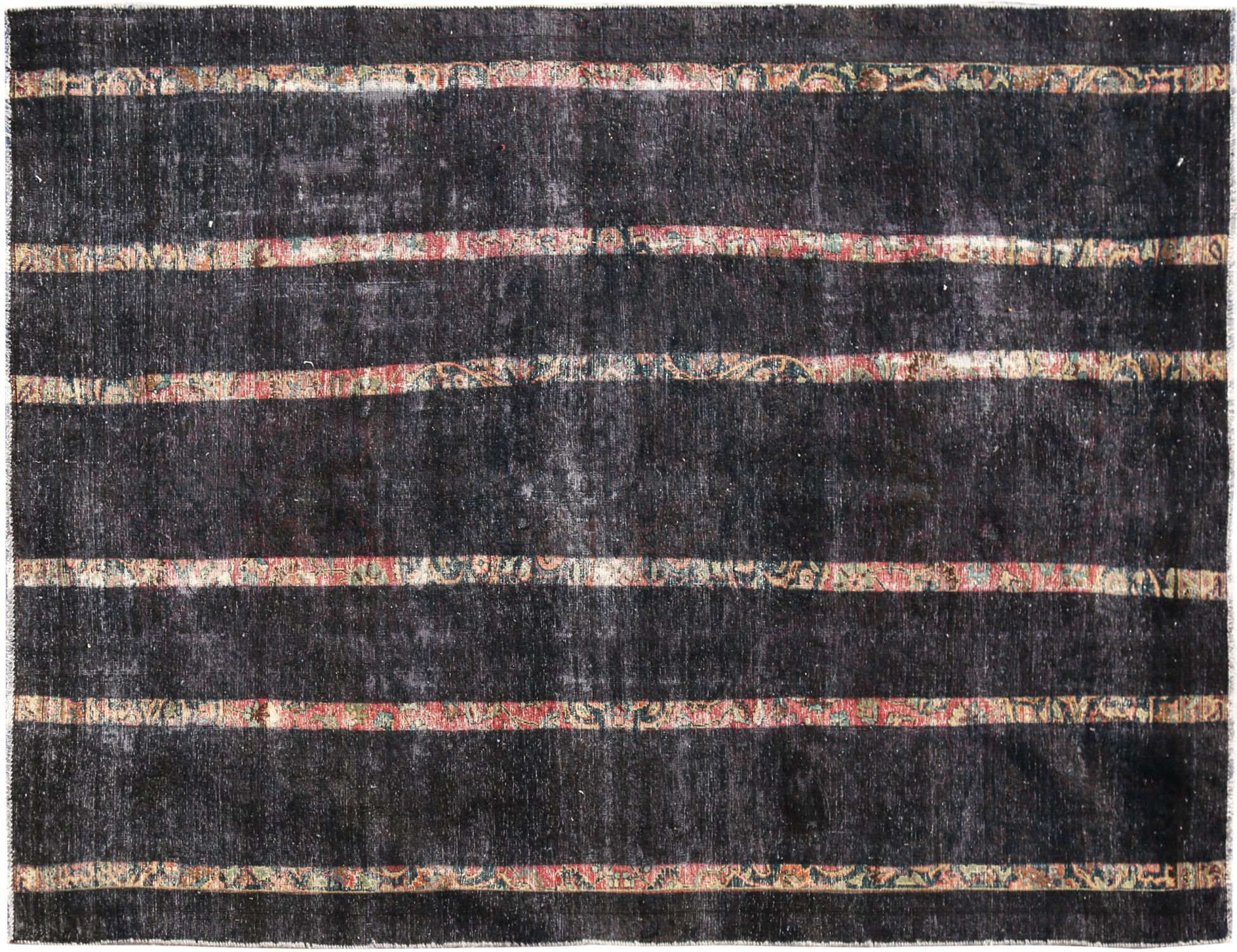 Vintage Teppich  schwarz <br/>303 x 184 cm