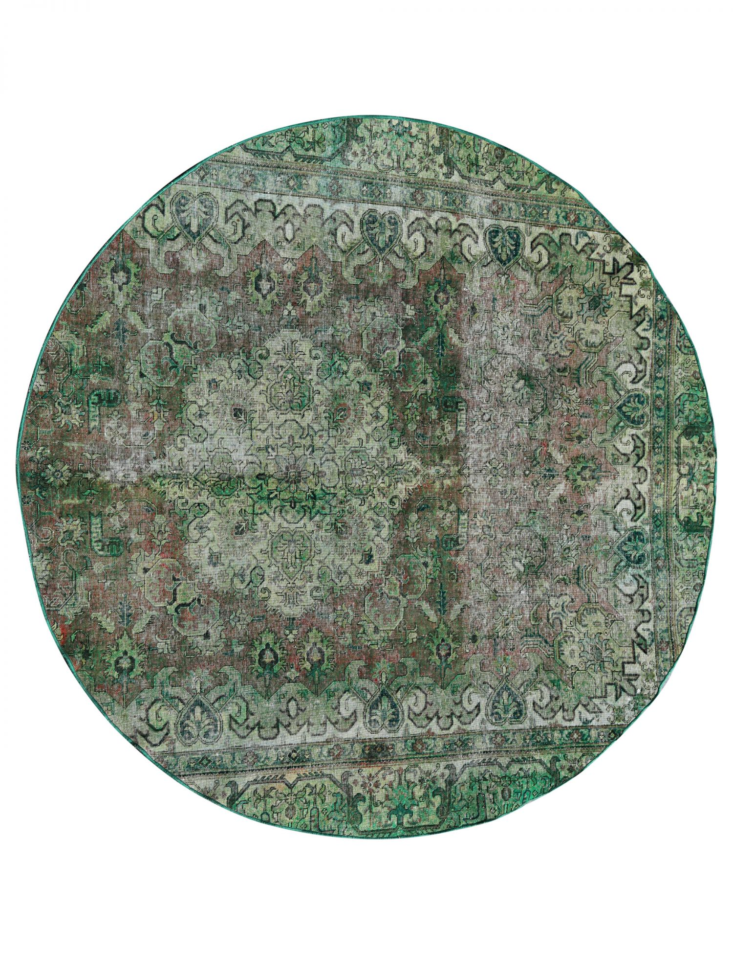Tappeto Vintage  verde <br/>273 x 273 cm