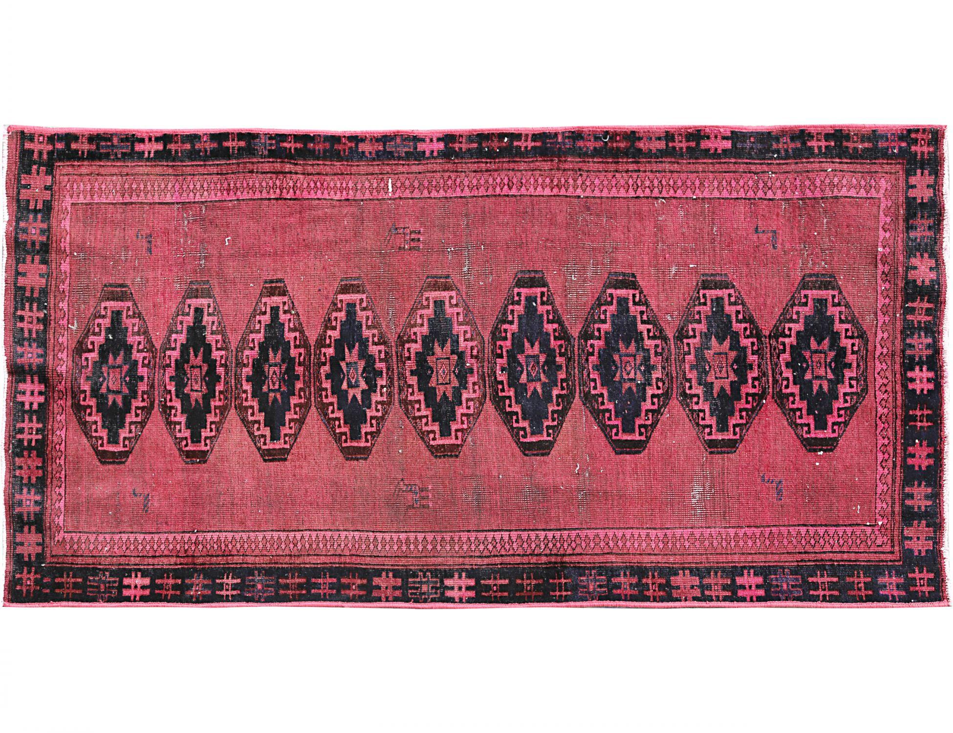 Vintage Teppich  rosa <br/>226 x 117 cm