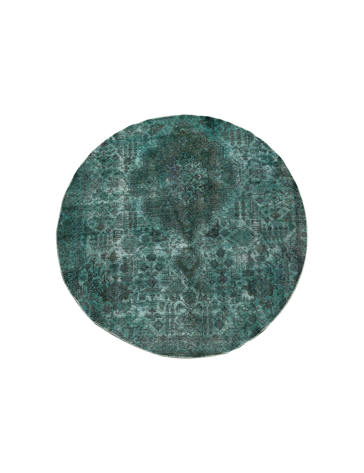 Vintage Teppich  grün <br/>235 x 235 cm