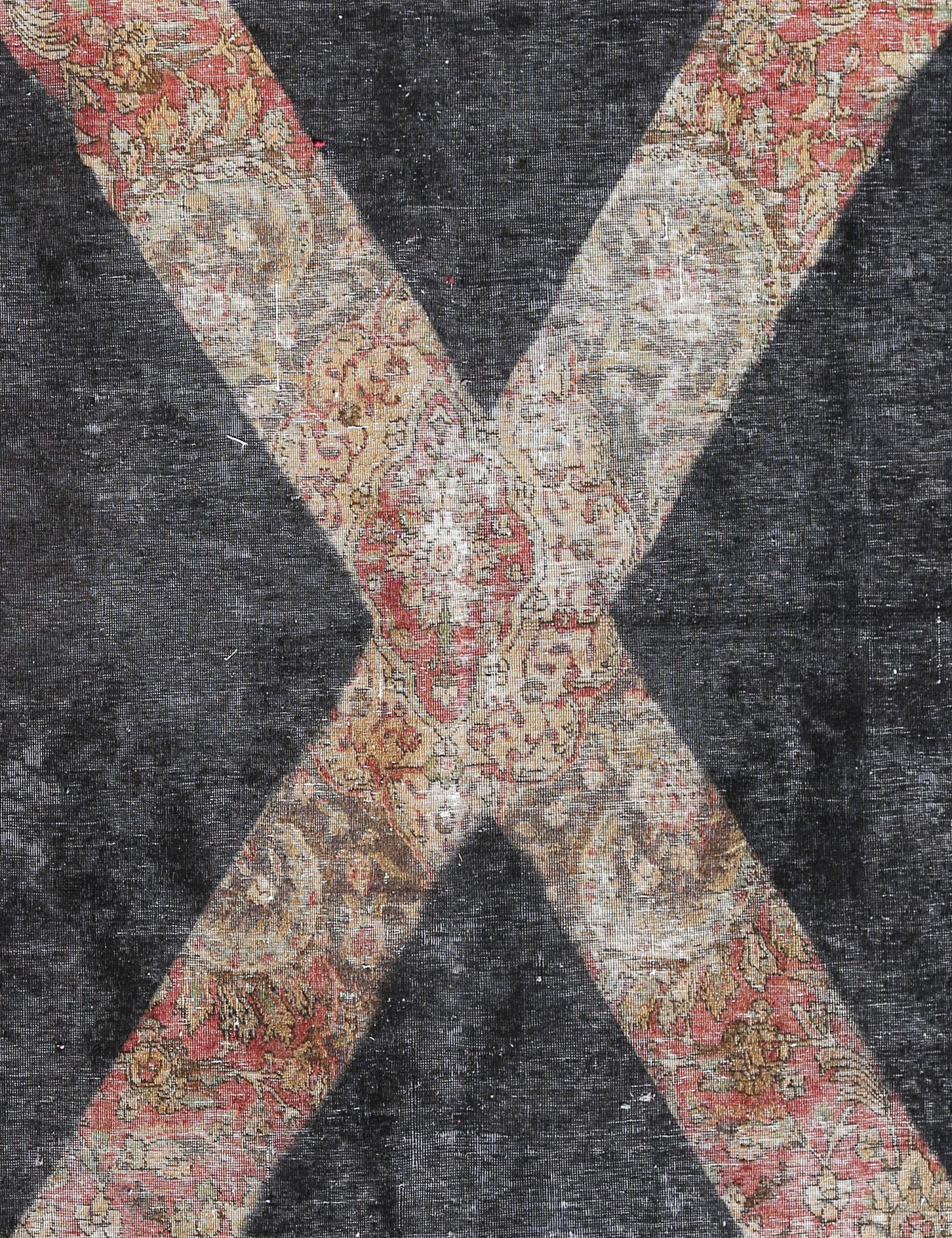 Tappeto Vintage  nero <br/>266 x 191 cm