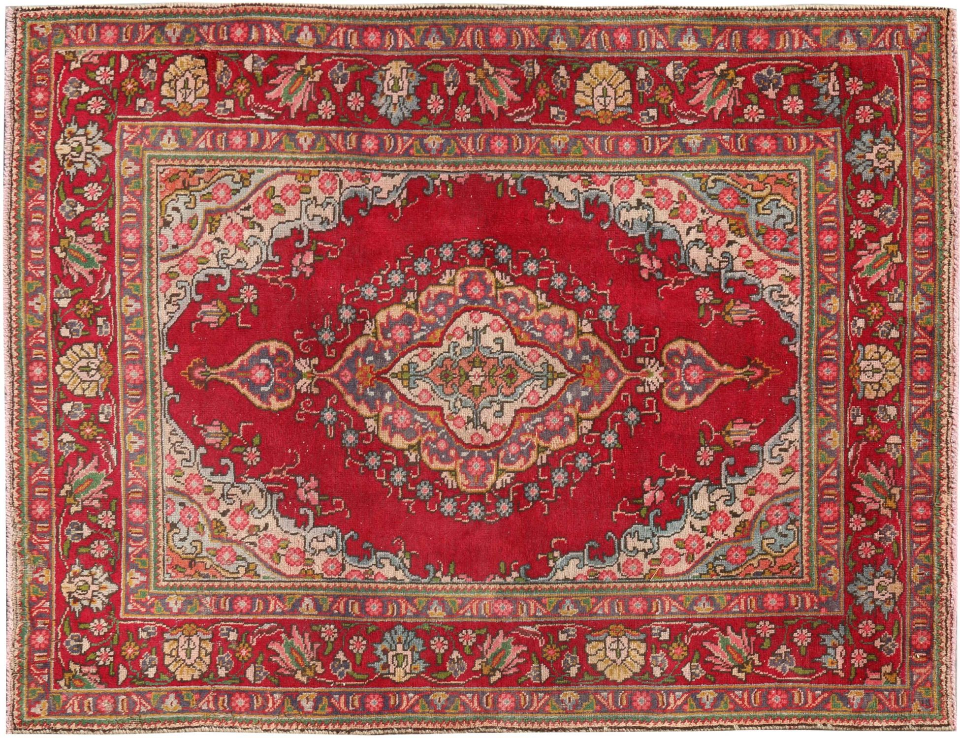 Retro Perserteppich  rot <br/>194 x 139 cm