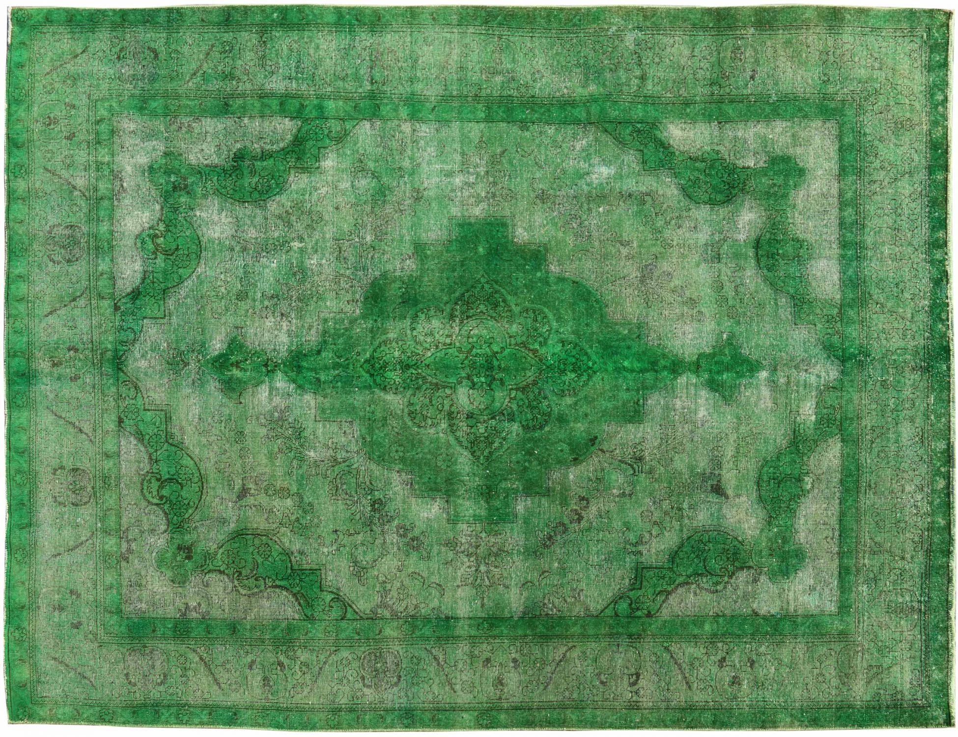 Vintage Teppich  grün <br/>385 x 288 cm