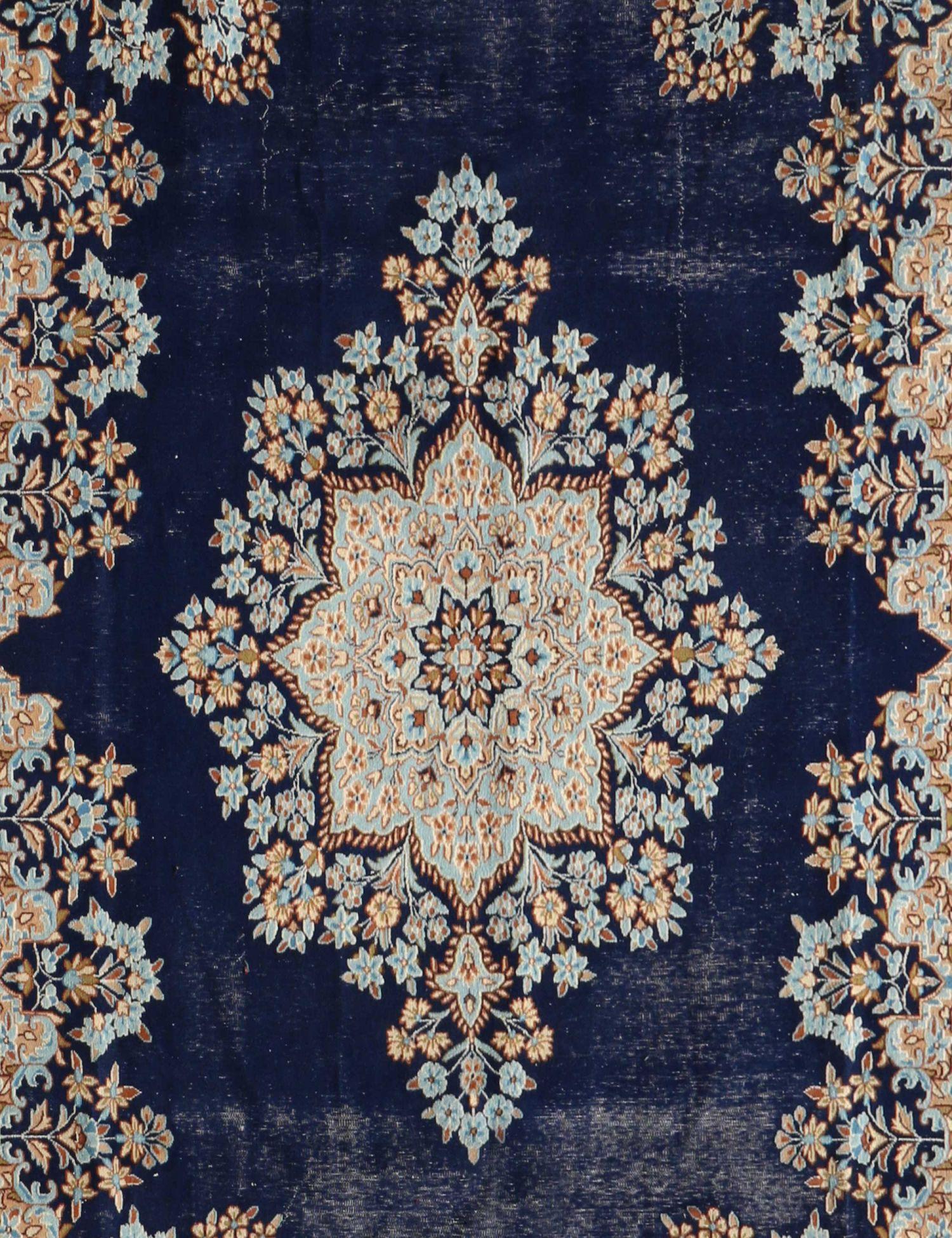 Retro Perserteppich  blau <br/>410 x 297 cm