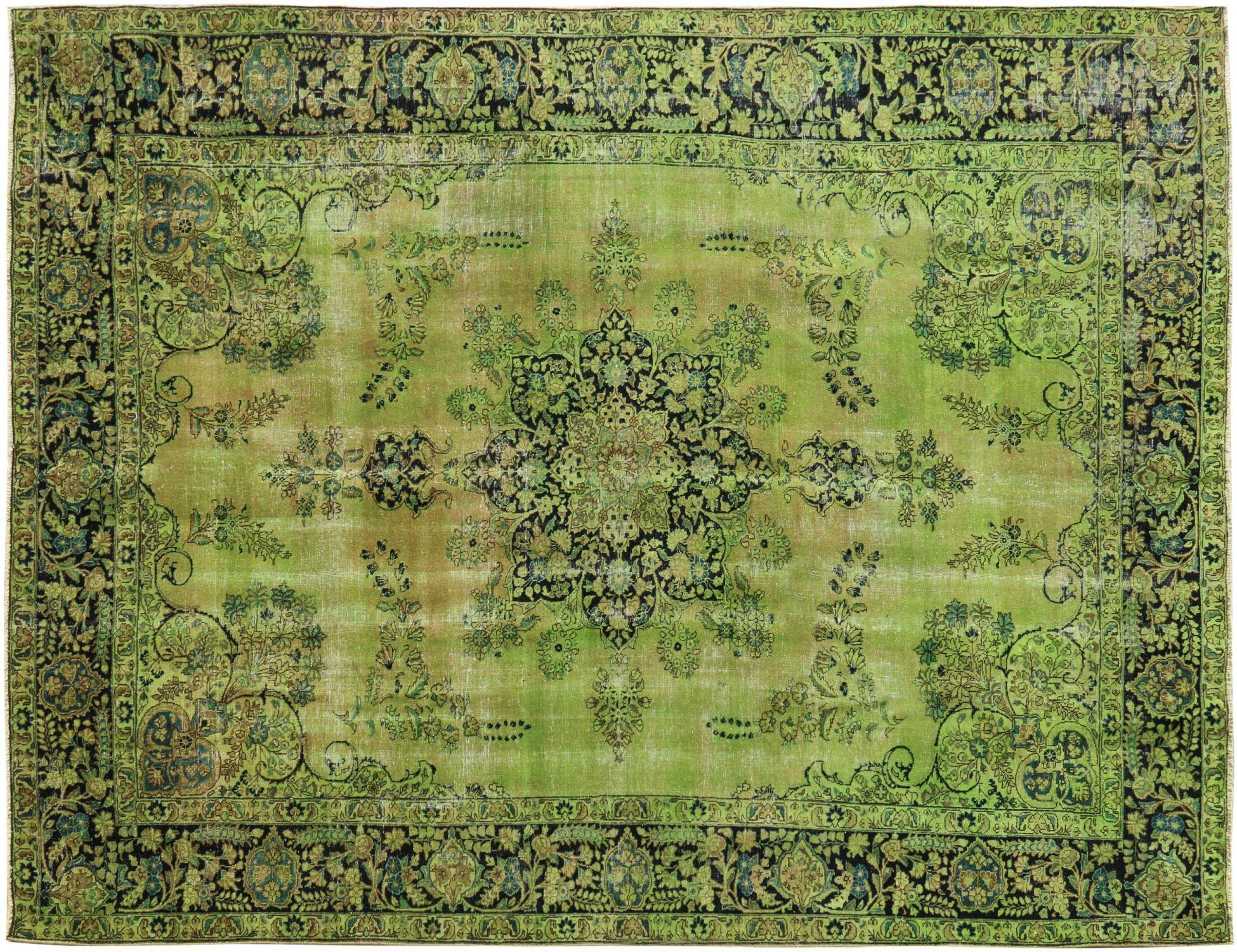 Vintage Teppich  grün <br/>386 x 284 cm