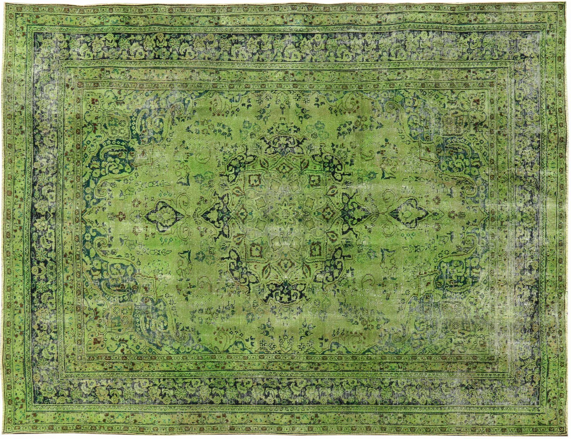 Vintage Teppich  grün <br/>316 x 240 cm