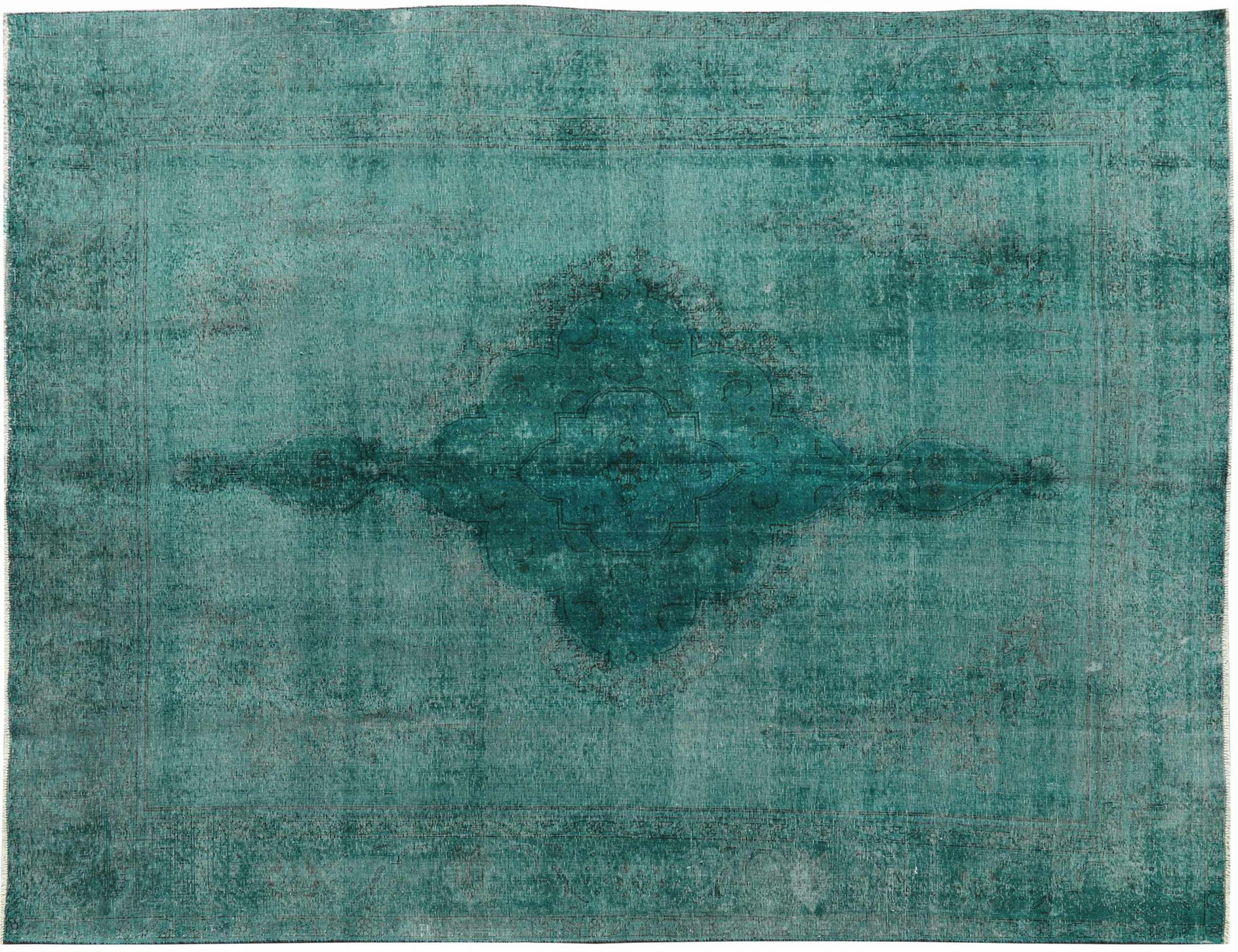 Vintage Teppich  grün <br/>364 x 293 cm