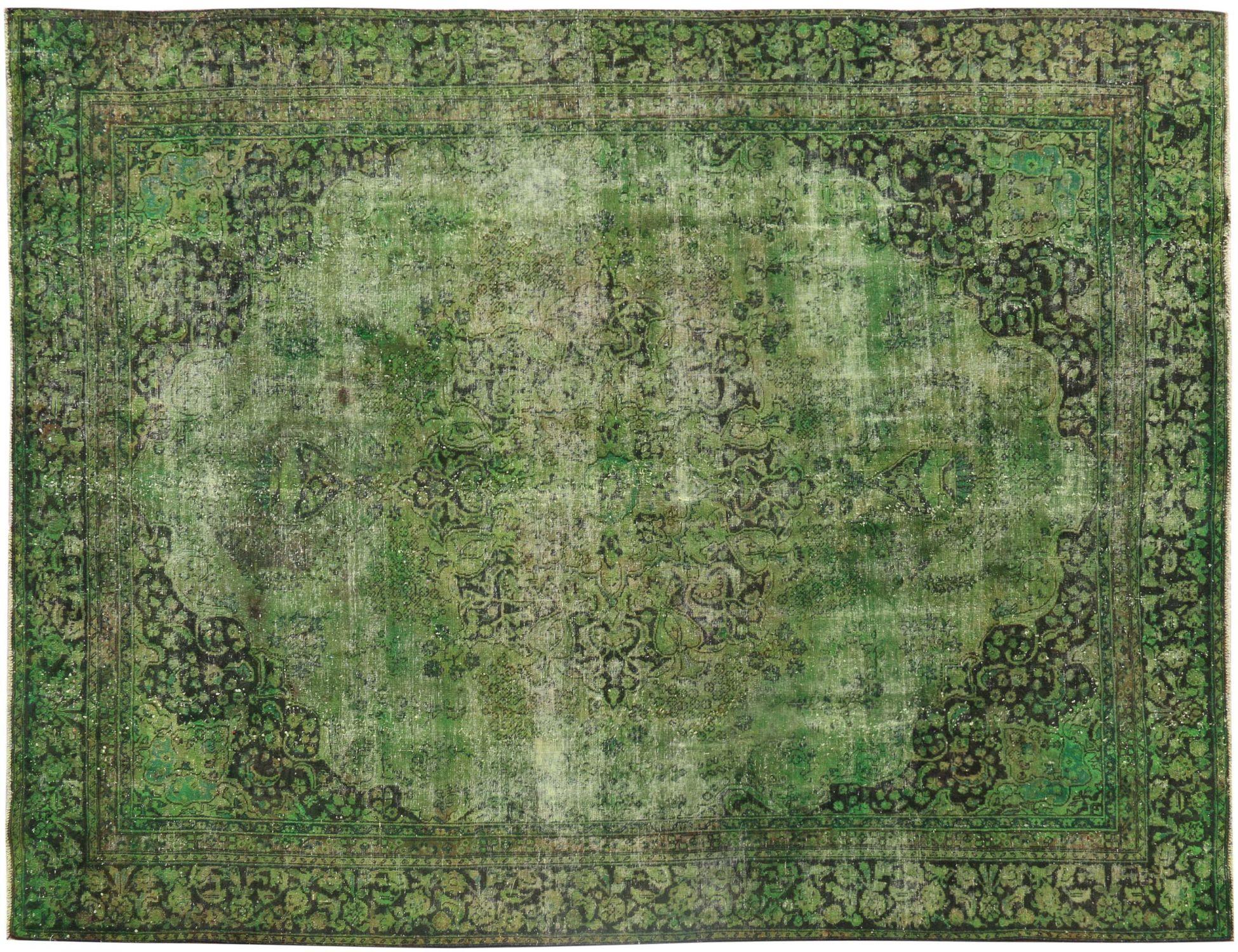 Vintage Teppich  grün <br/>345 x 270 cm