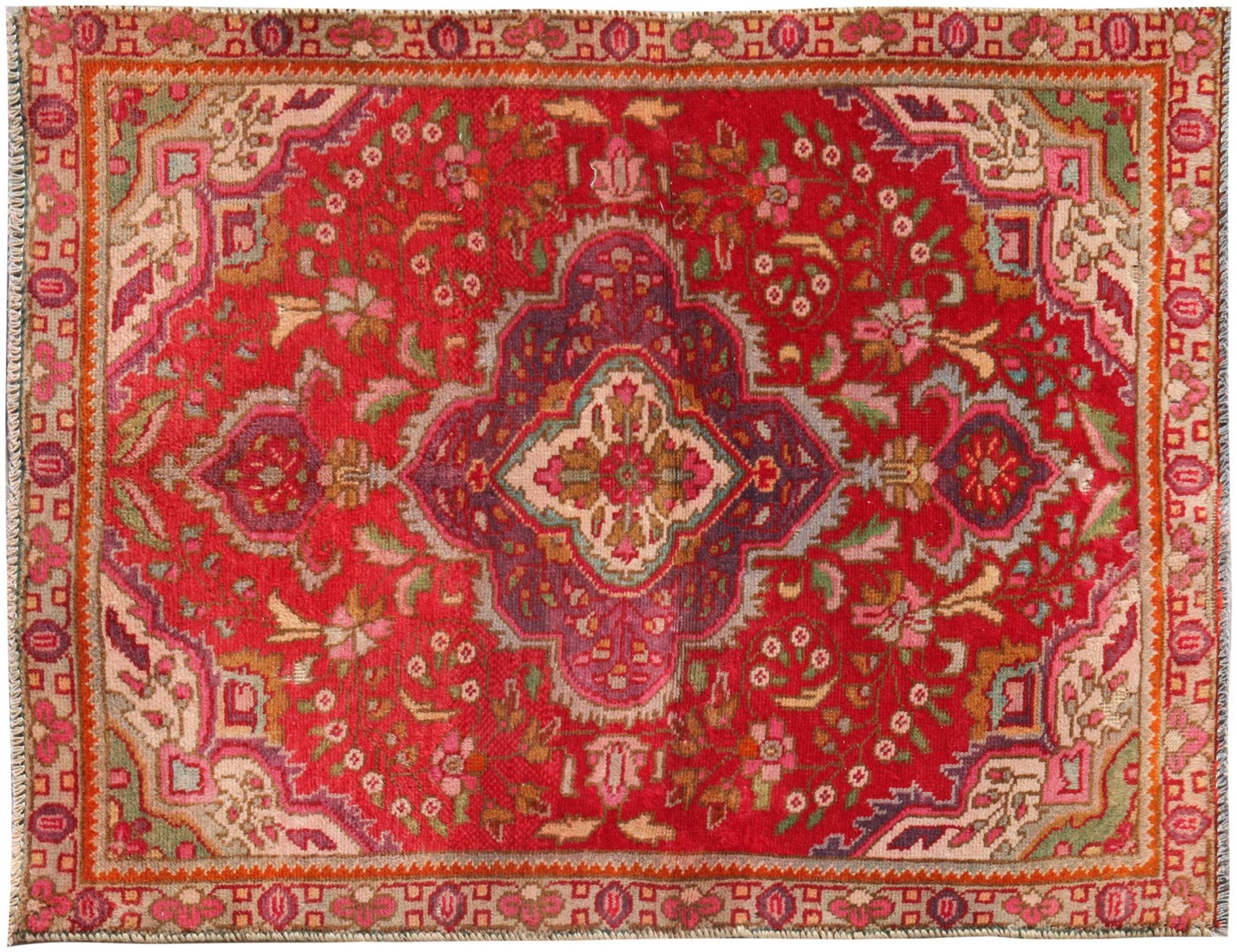 Retro Perserteppich  rot <br/>137 x 90 cm