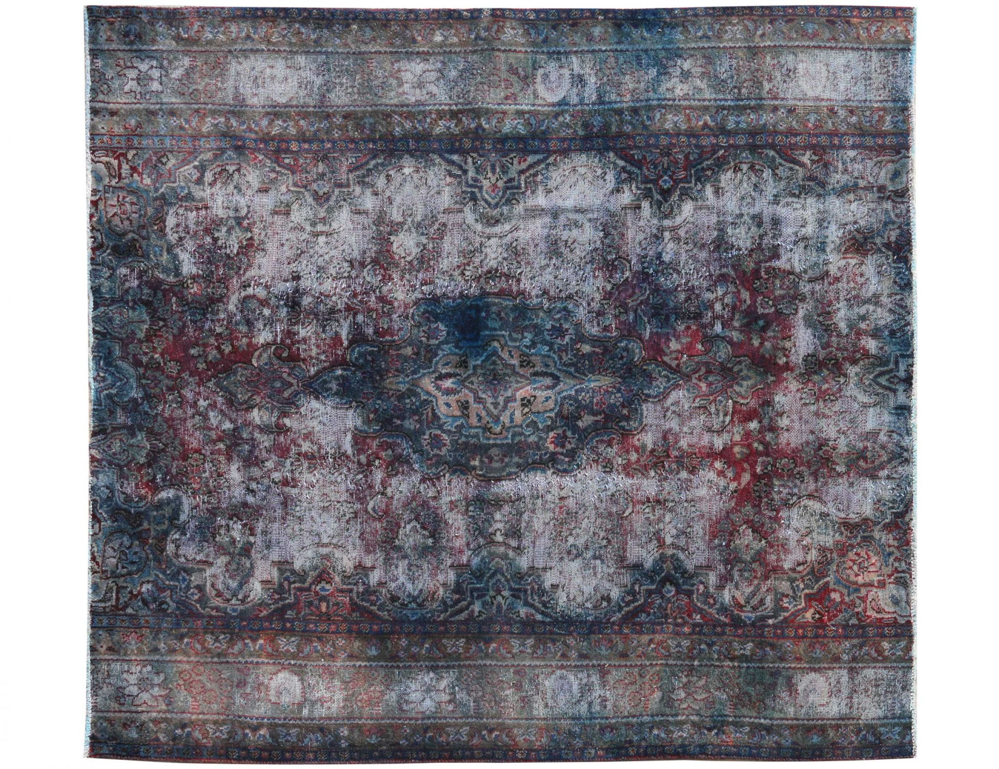 Tappeto Vintage  blu <br/>213 x 162 cm