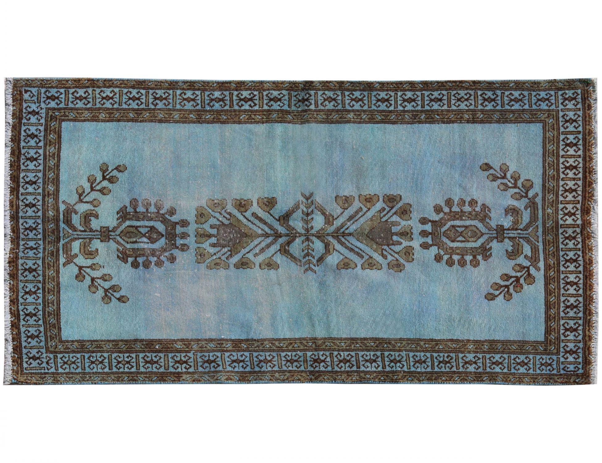 Vintage Teppich  blau <br/>113 x 195 cm