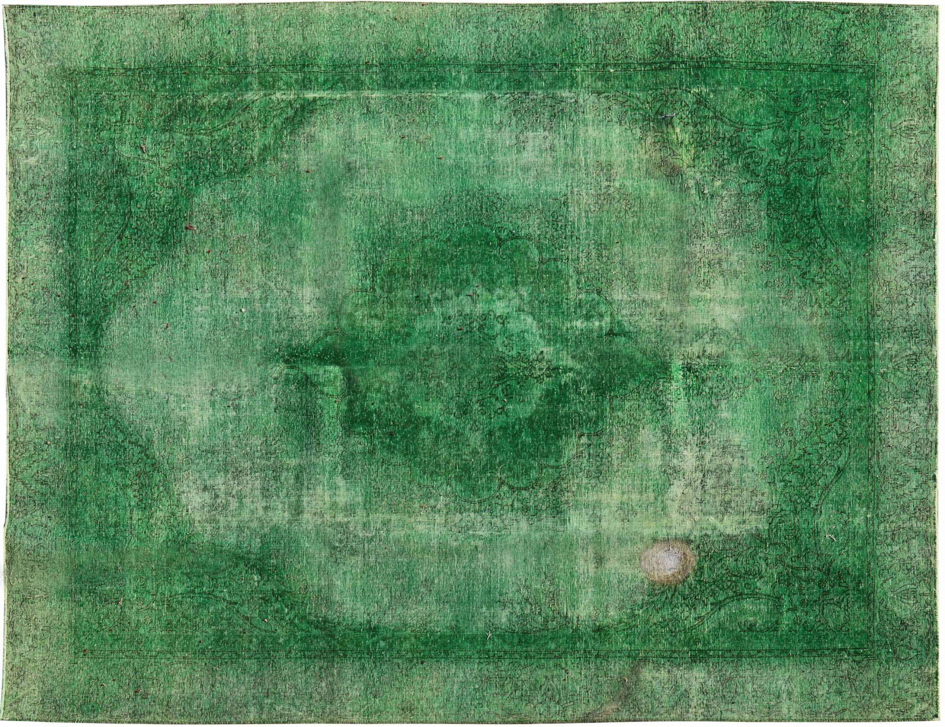 Vintage Teppich  grün <br/>372 x 275 cm