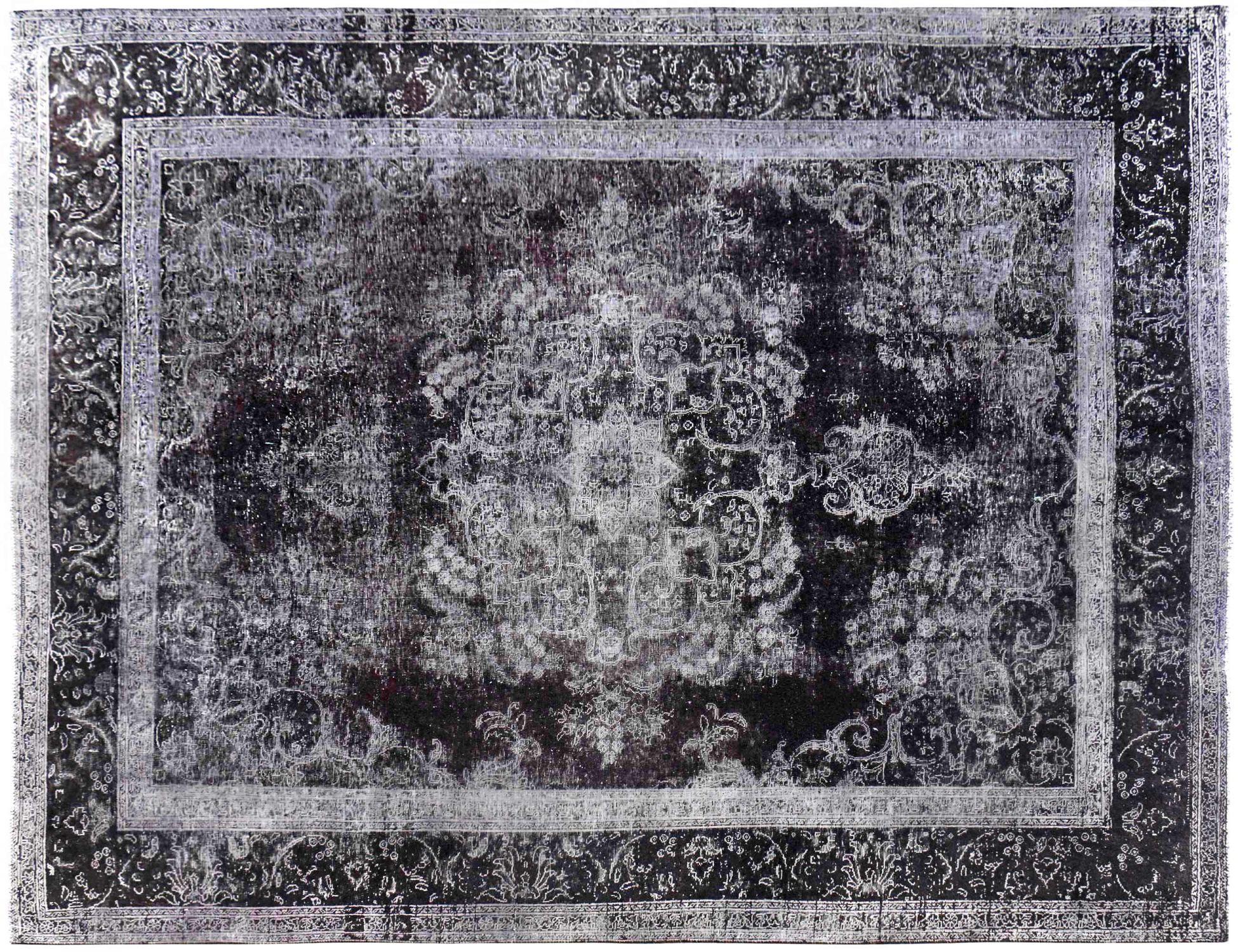 Vintage Perserteppich  schwarz <br/>372 x 292 cm