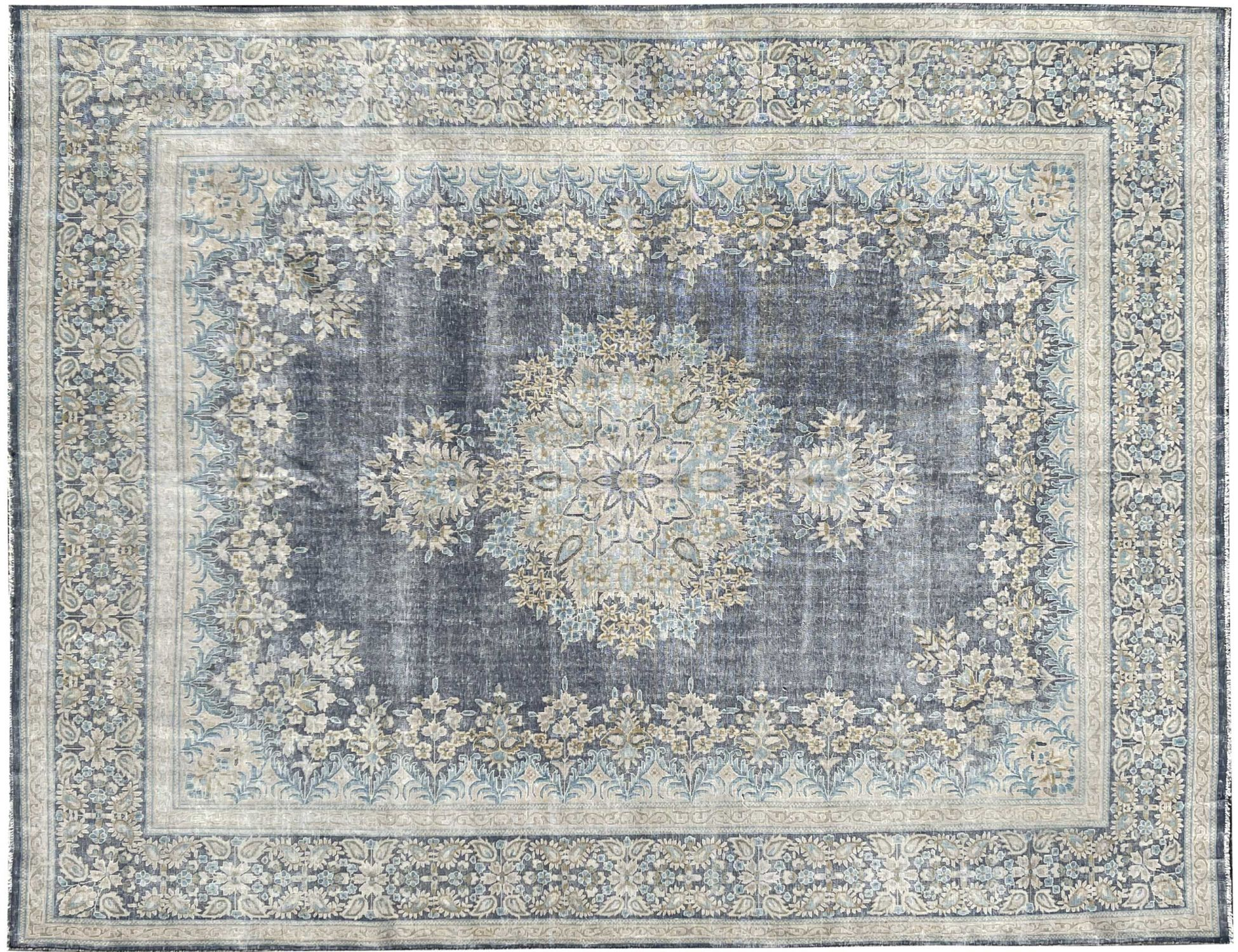Retro Perserteppich  blau <br/>399 x 298 cm