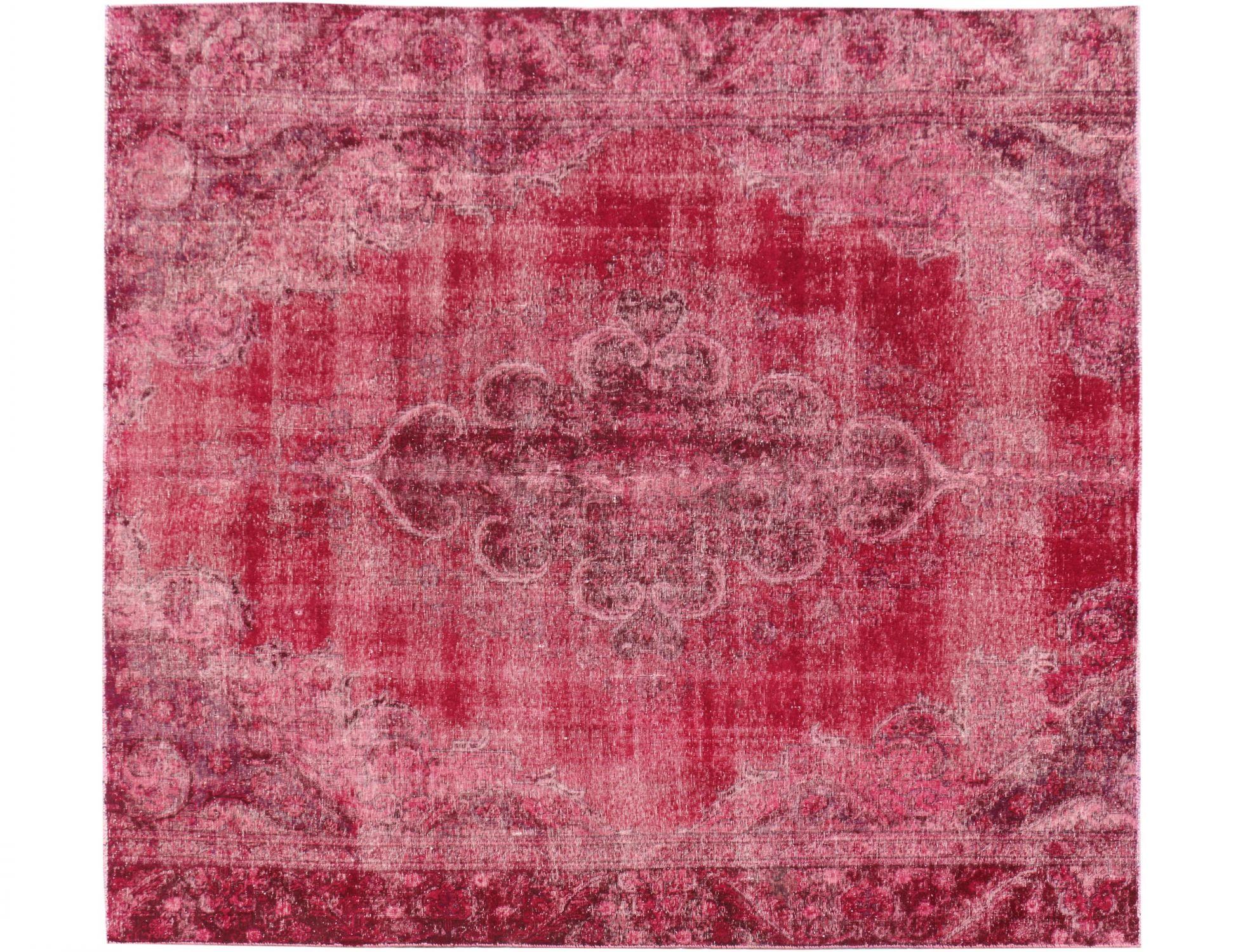 Persischer Vintage Teppich  rot <br/>290 x 270 cm