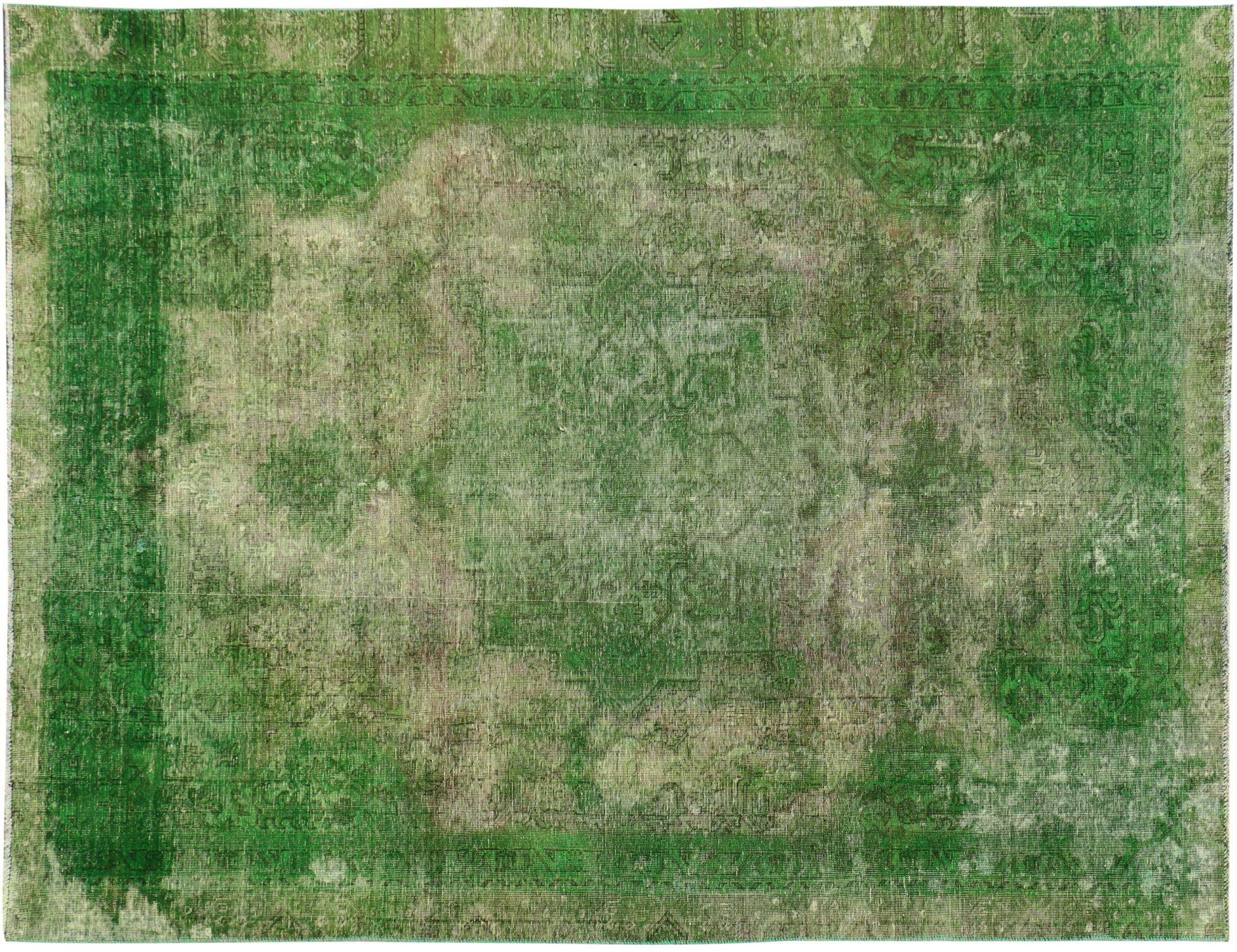 Vintage Teppich  grün <br/>344 x 242 cm
