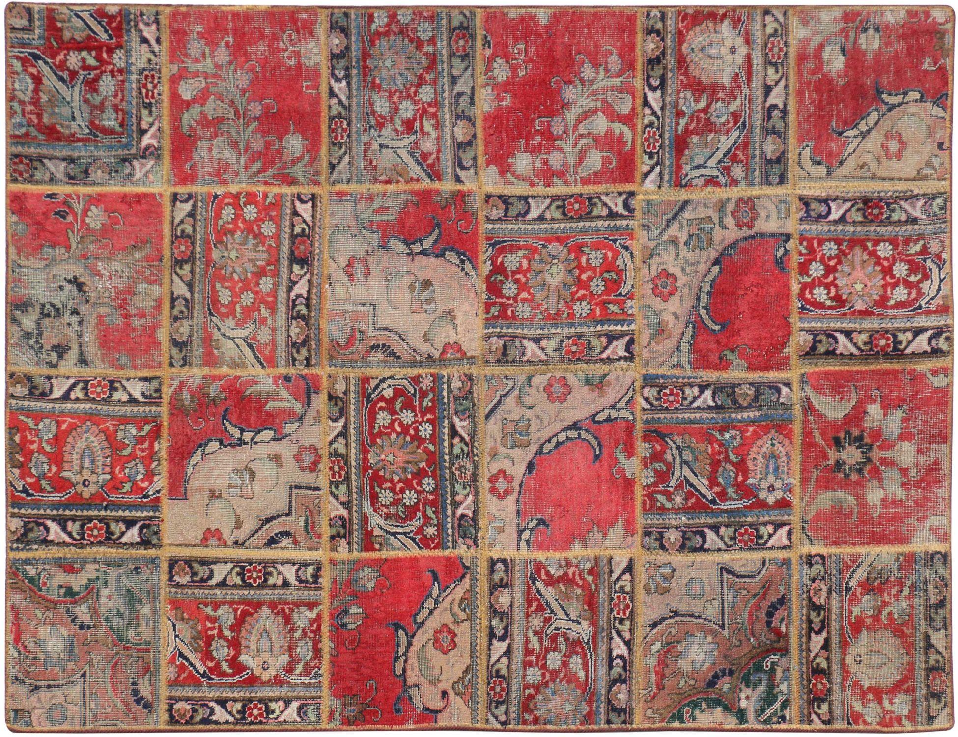 Persisk patchwork tæppe  multifarvet <br/>240 x 140 cm