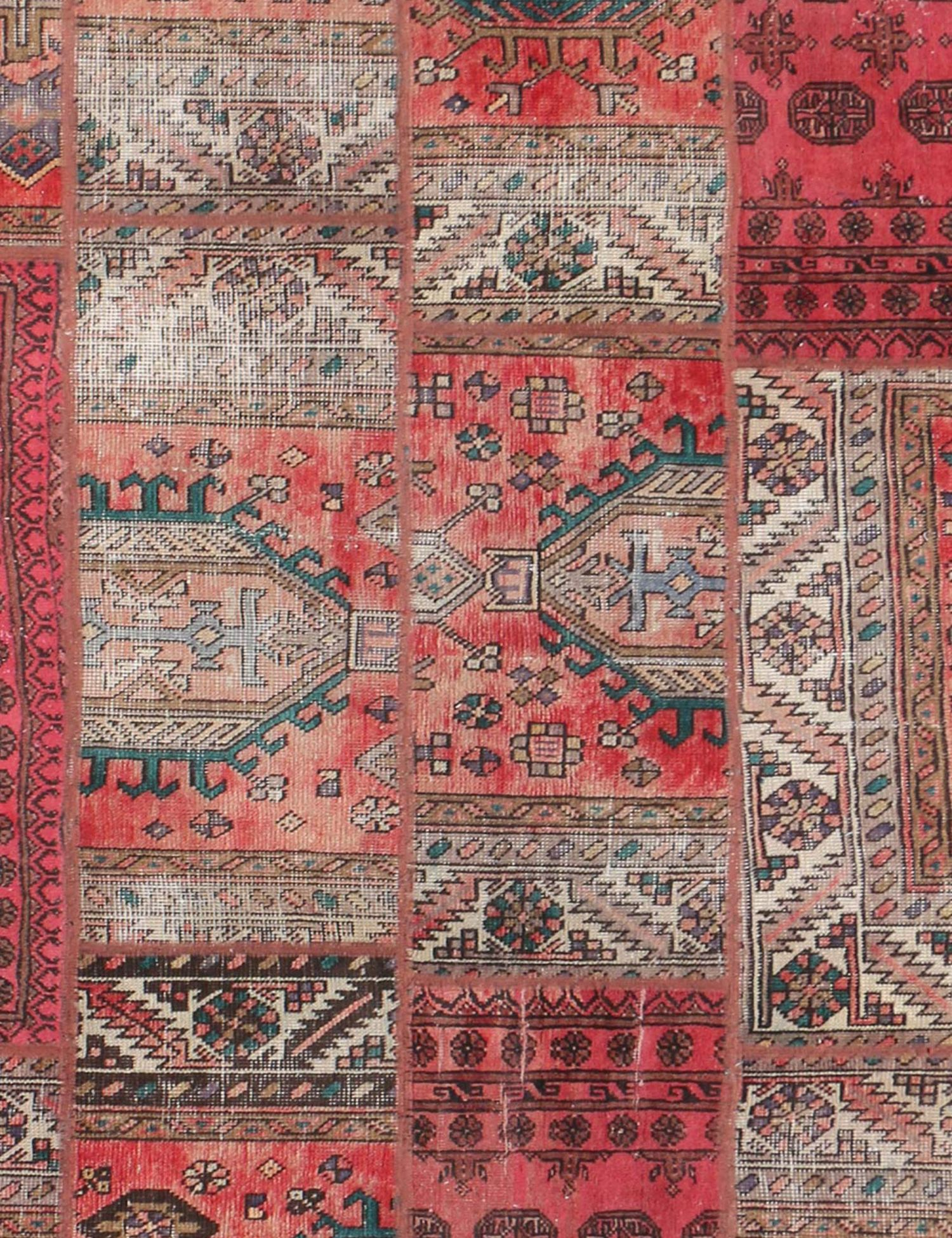 Perzisch Patchwork Tapijt  rood <br/>277 x 173 cm