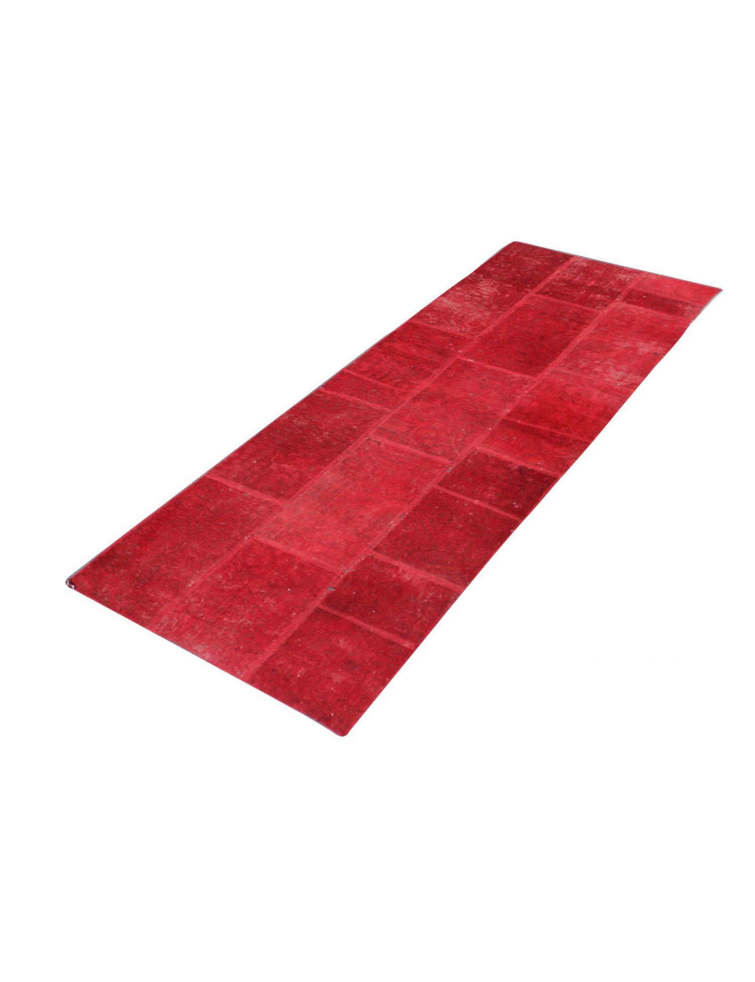 Persisk patchwork tæppe  rød <br/>269 x 90 cm