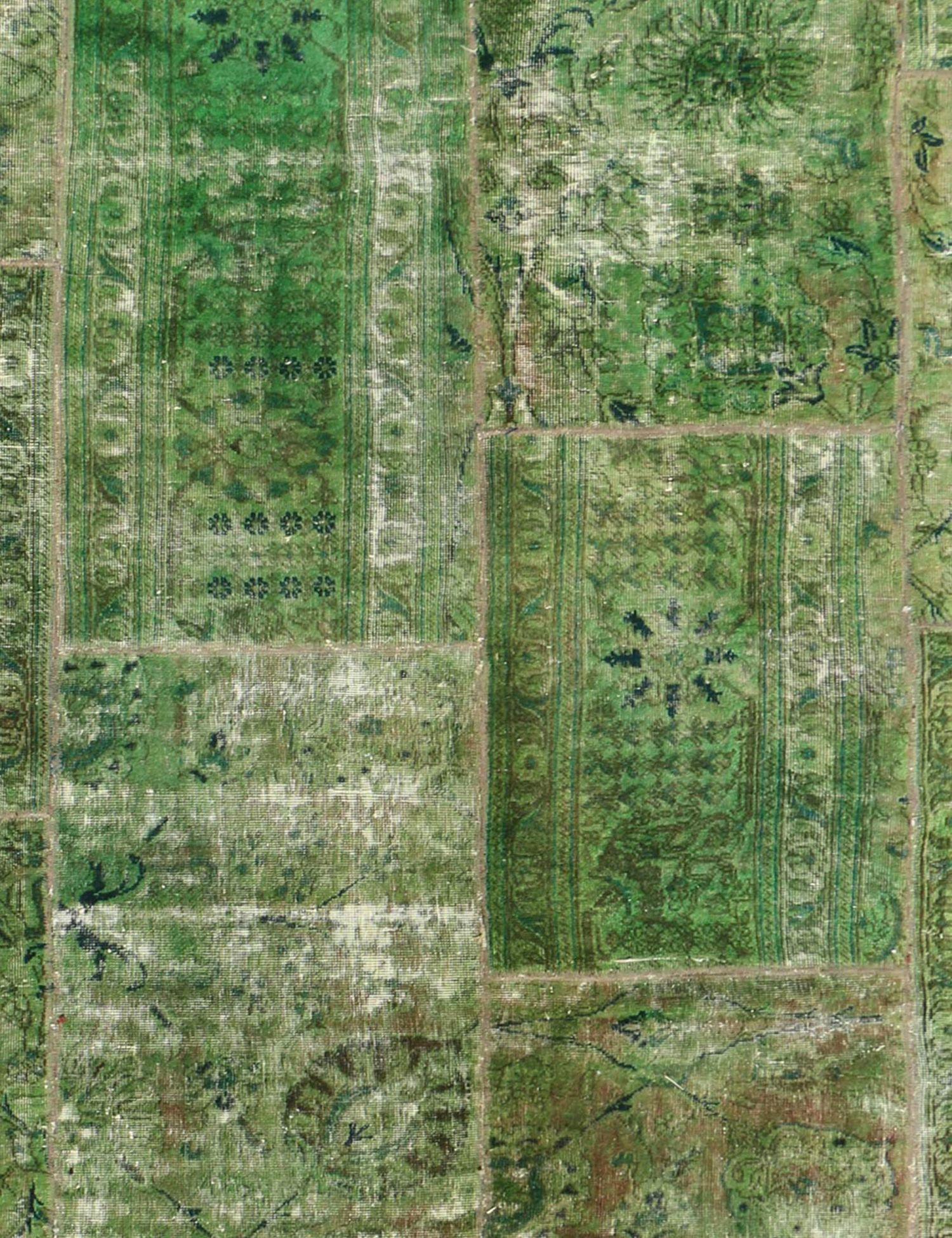 Perzisch Patchwork Tapijt  groen <br/>300 x 200 cm