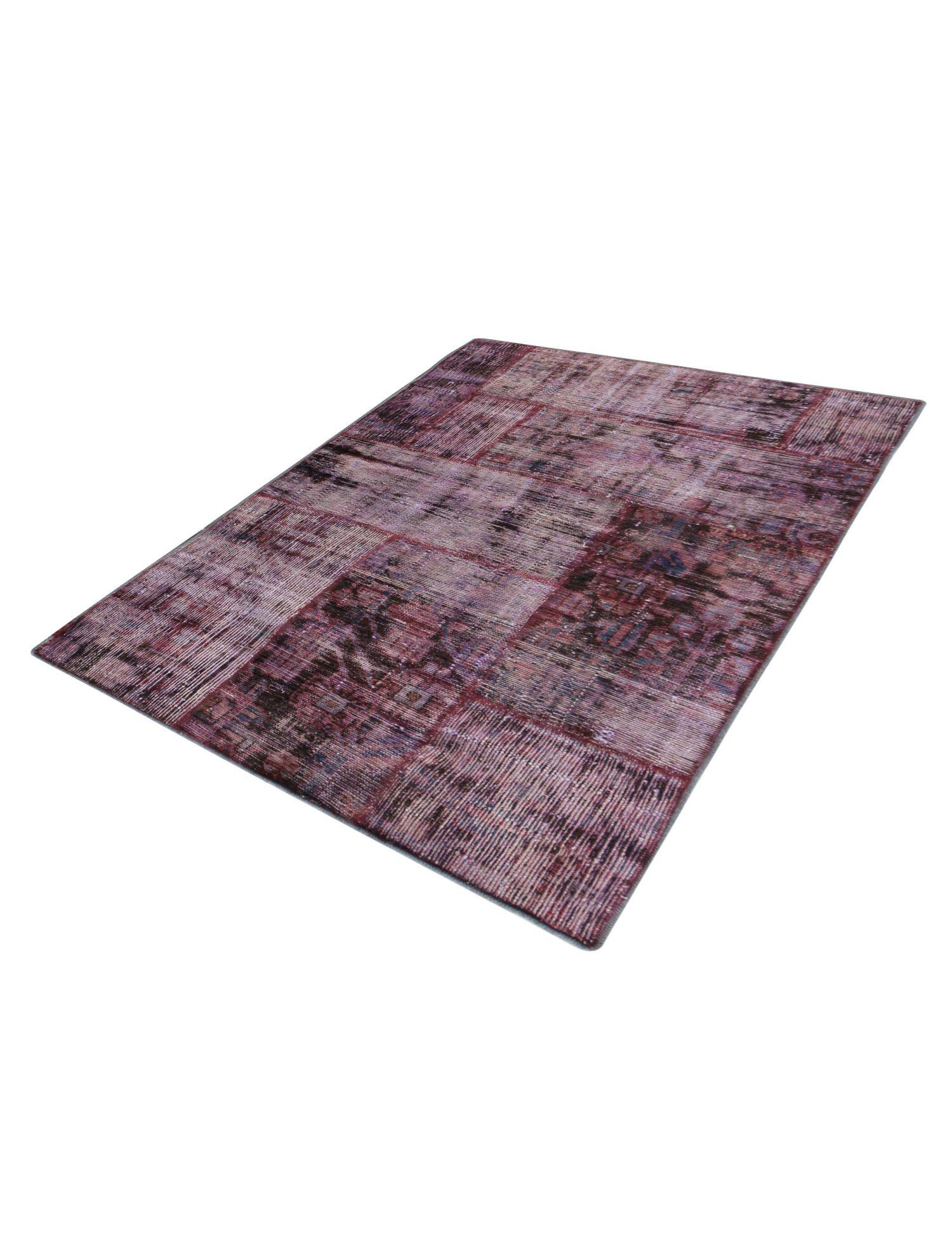 Persisk patchwork tæppe  lilla <br/>101 x 91 cm