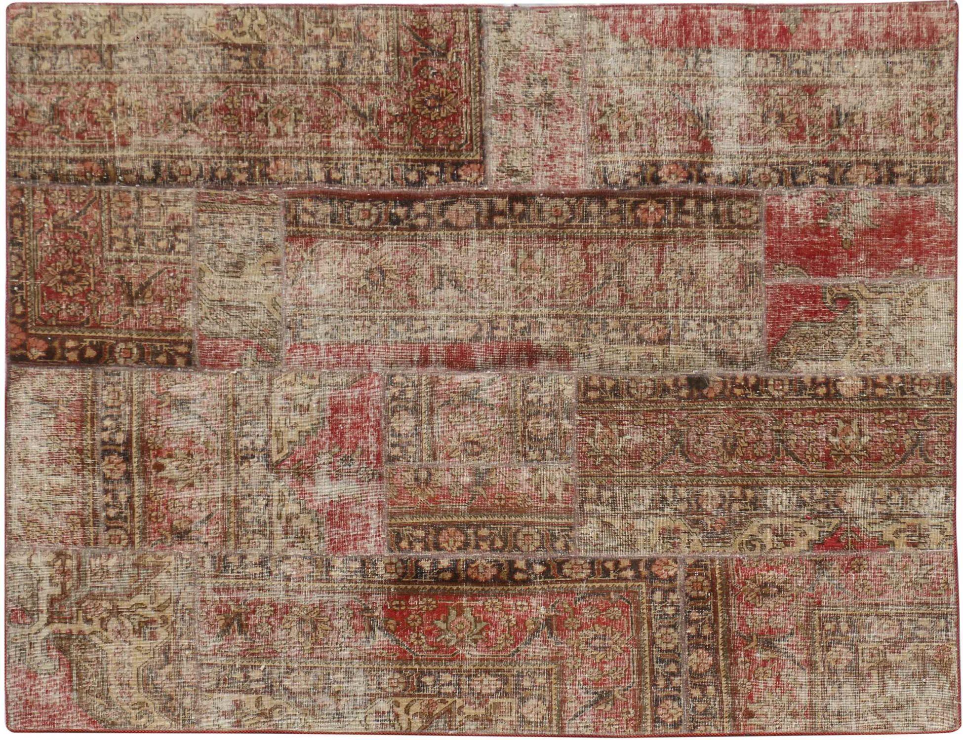 Perzisch Patchwork Tapijt  beige <br/>238 x 184 cm