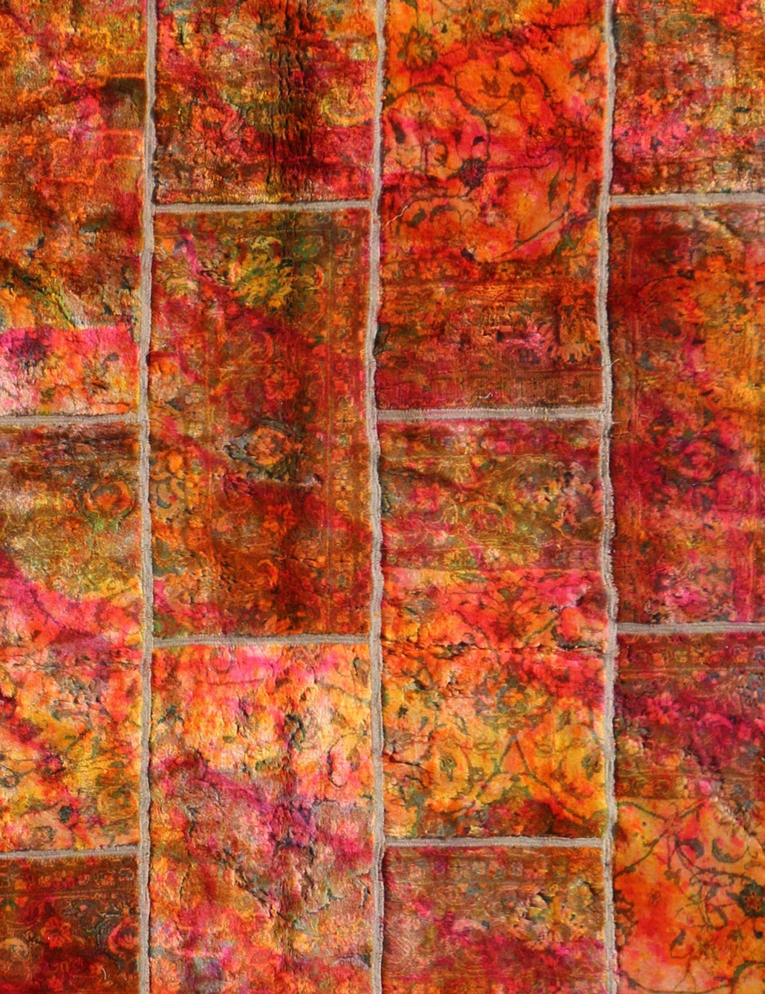 Persisk patchwork tæppe  multifarvet <br/>246 x 176 cm