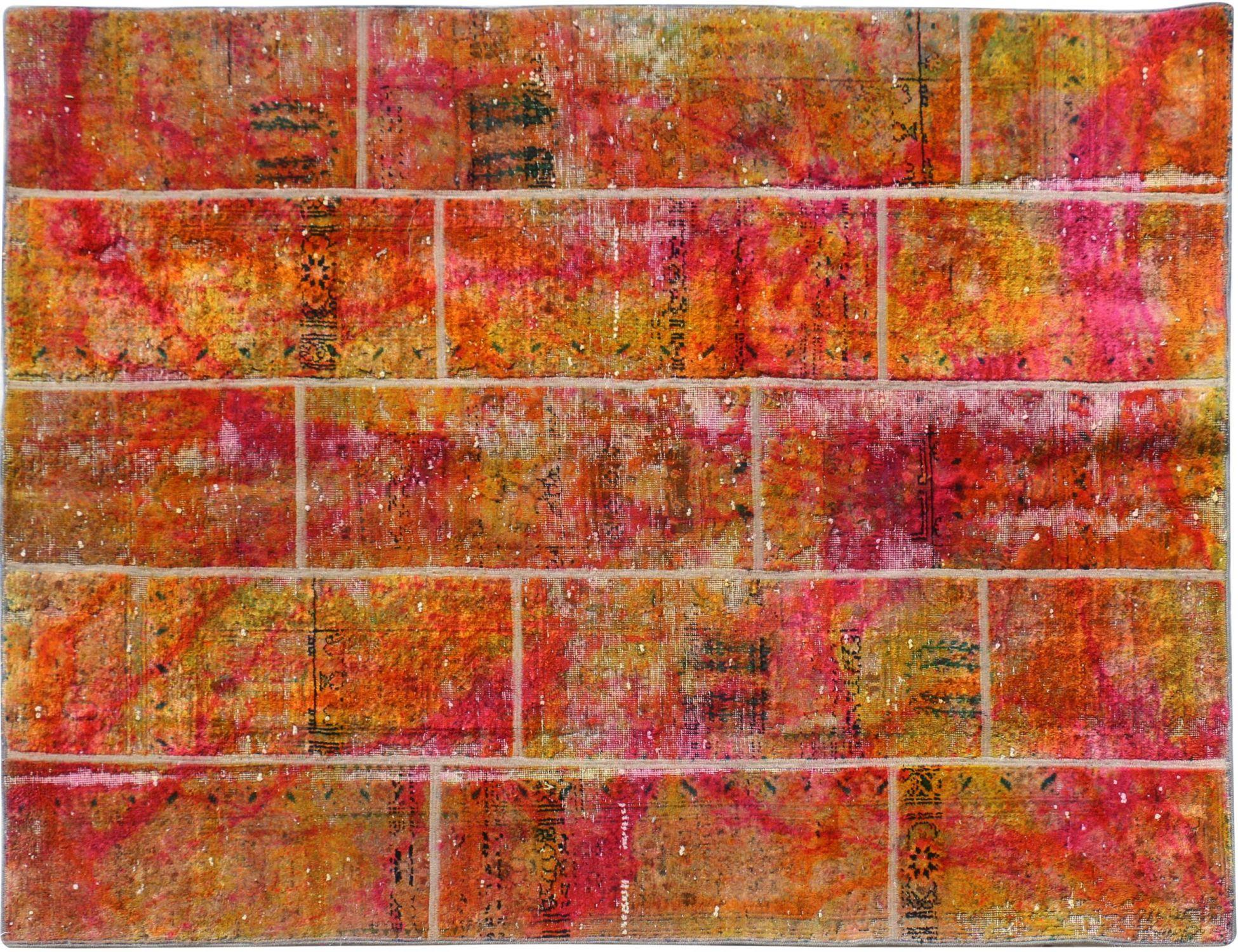 Persischer patchwork Teppich  mehrfarbig <br/>237 x 275 cm