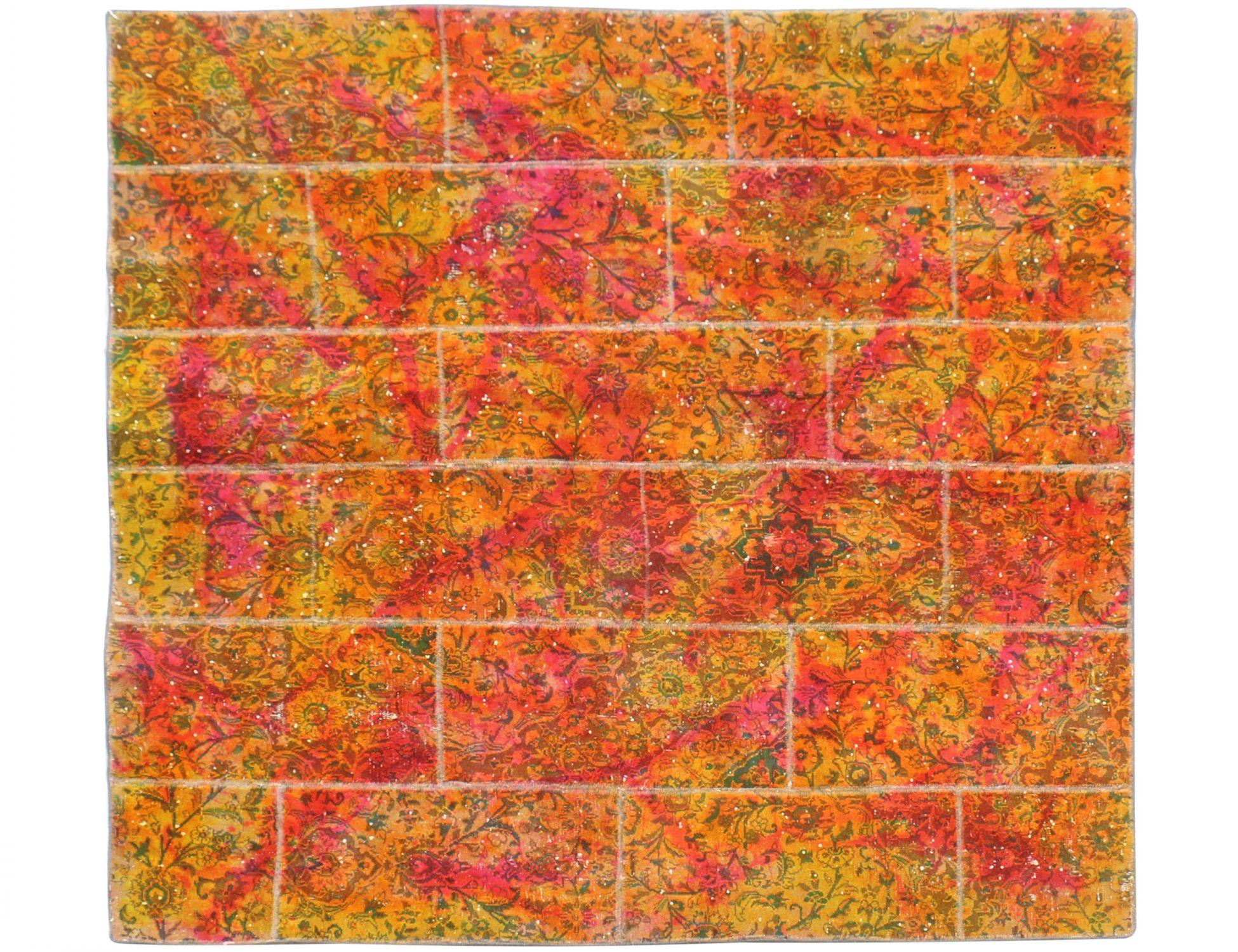 Patchwork Tapijt  multi kleur <br/>200 x 200 cm