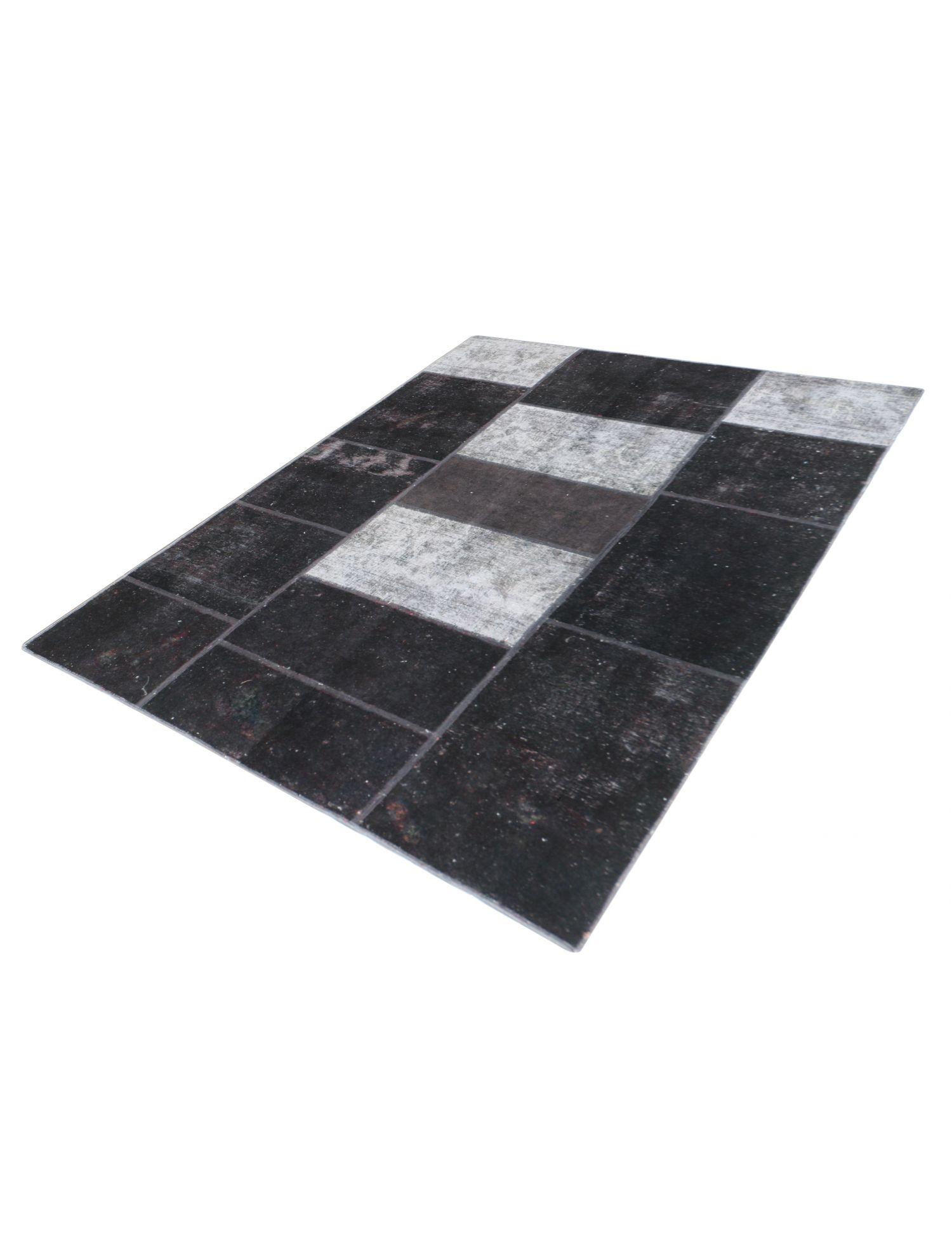Persischer patchwork Teppich  schwarz <br/>246 x 168 cm