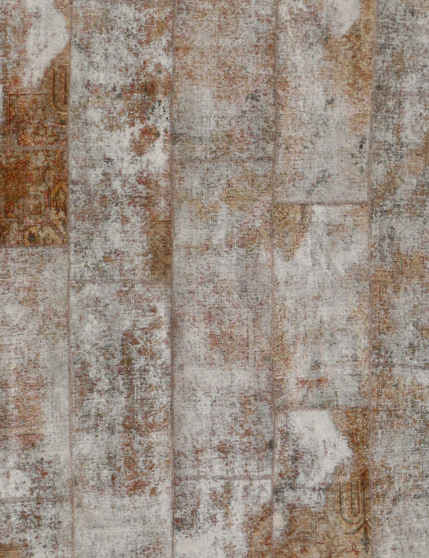 Persian Patchwork Carpet  brown <br/>280 x 240 cm