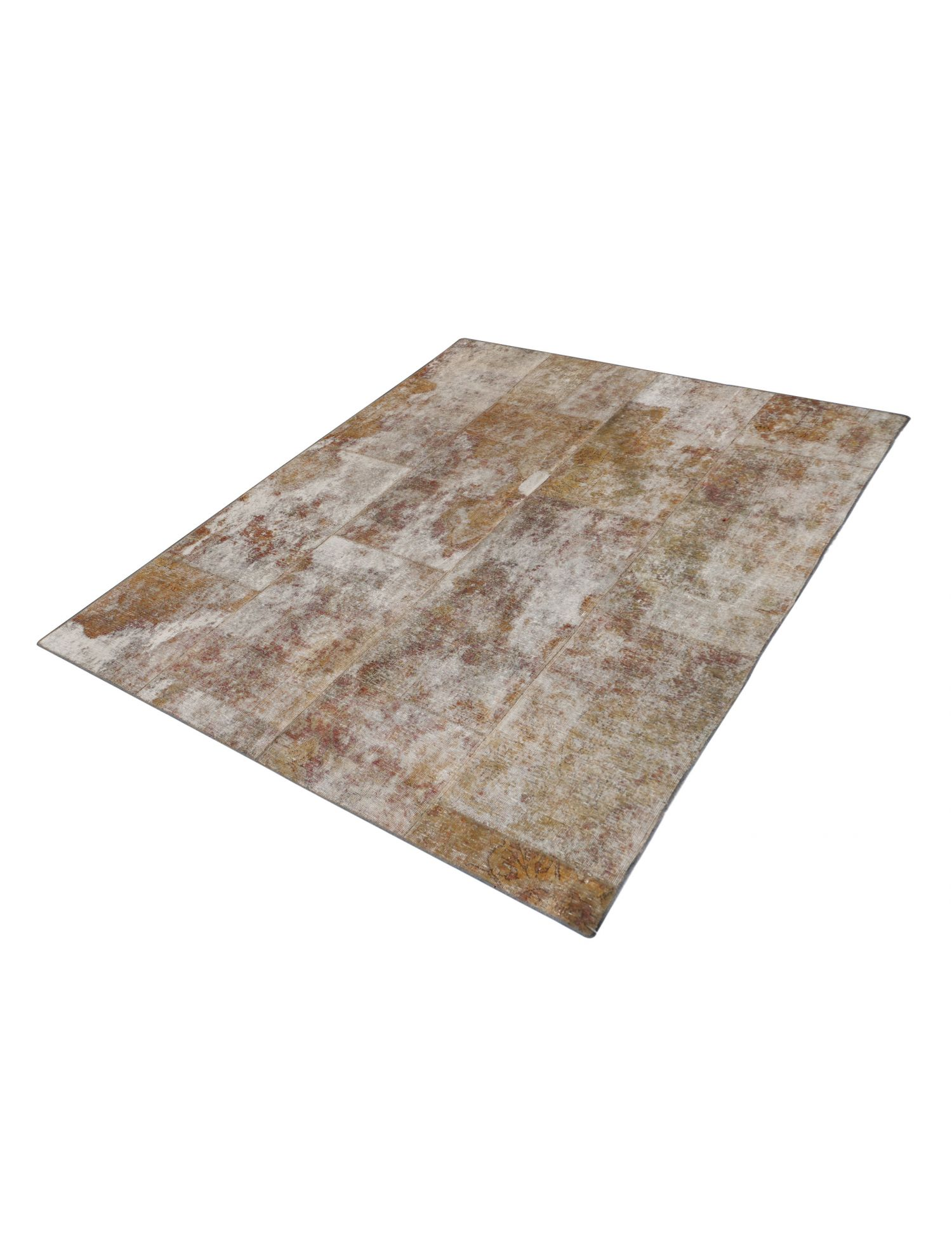 Patchwork tæppe  beige <br/>210 x 179 cm