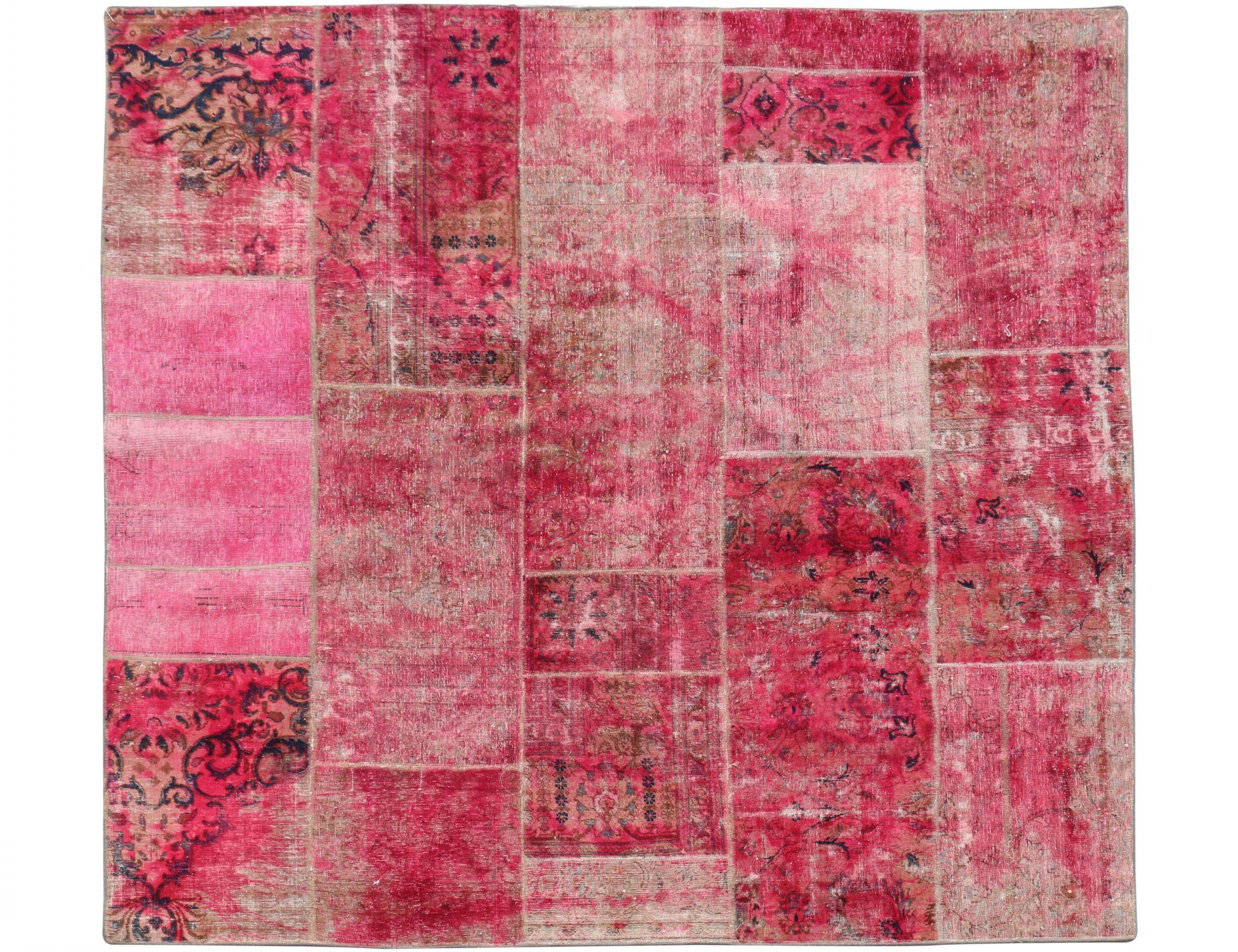 Patchwork Tapijt  rood <br/>250 x 250 cm