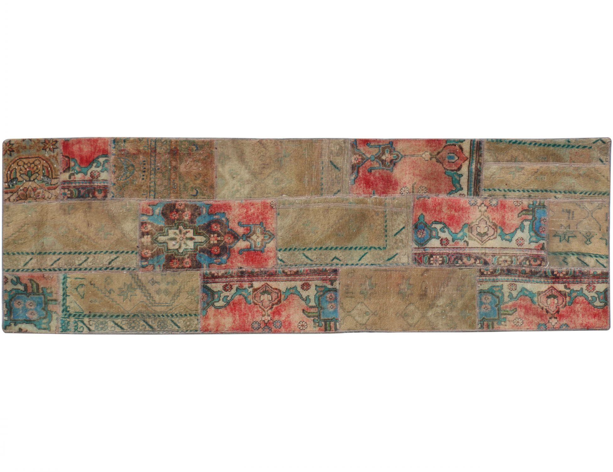 Patchwork Tapijt  bruin <br/>270 x 85 cm