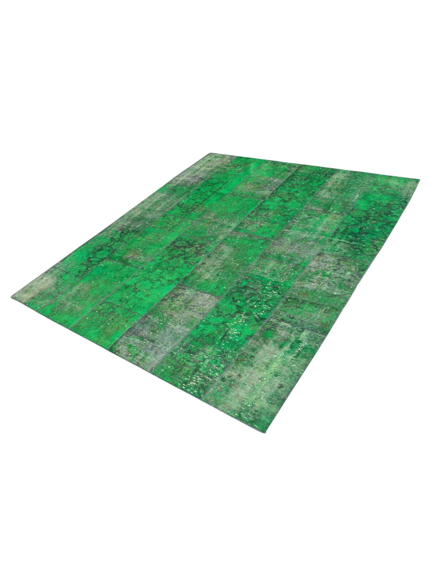 Persian Patchwork Carpet  green  <br/>274 x 182 cm
