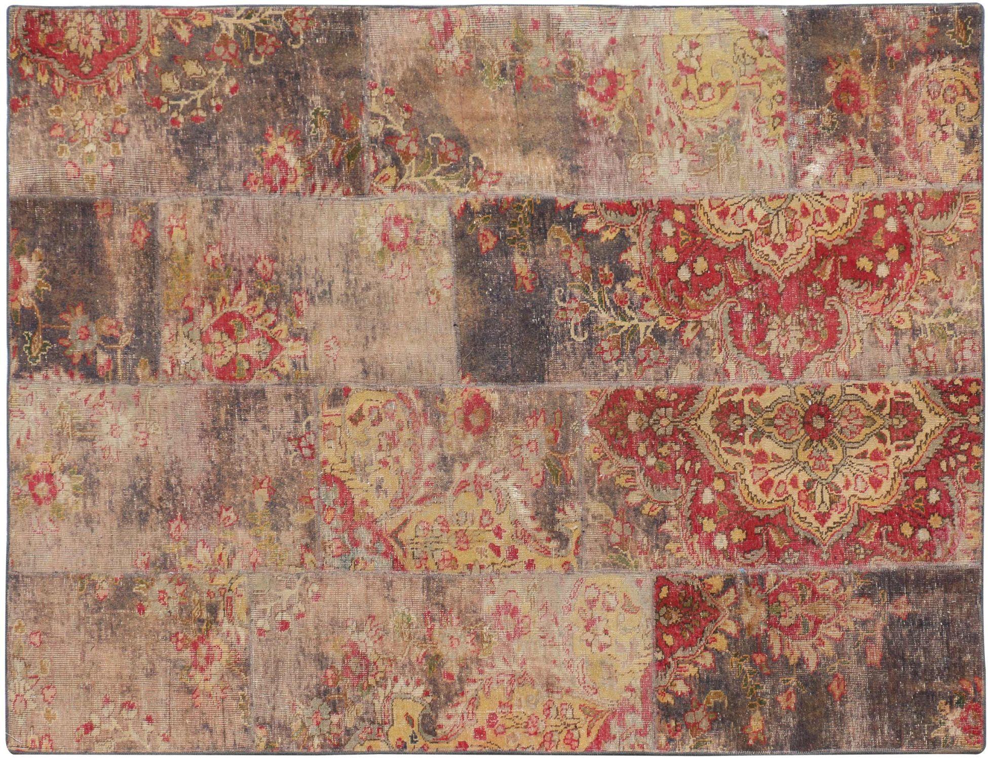 Patchwork tæppe  lilla <br/>227 x 160 cm