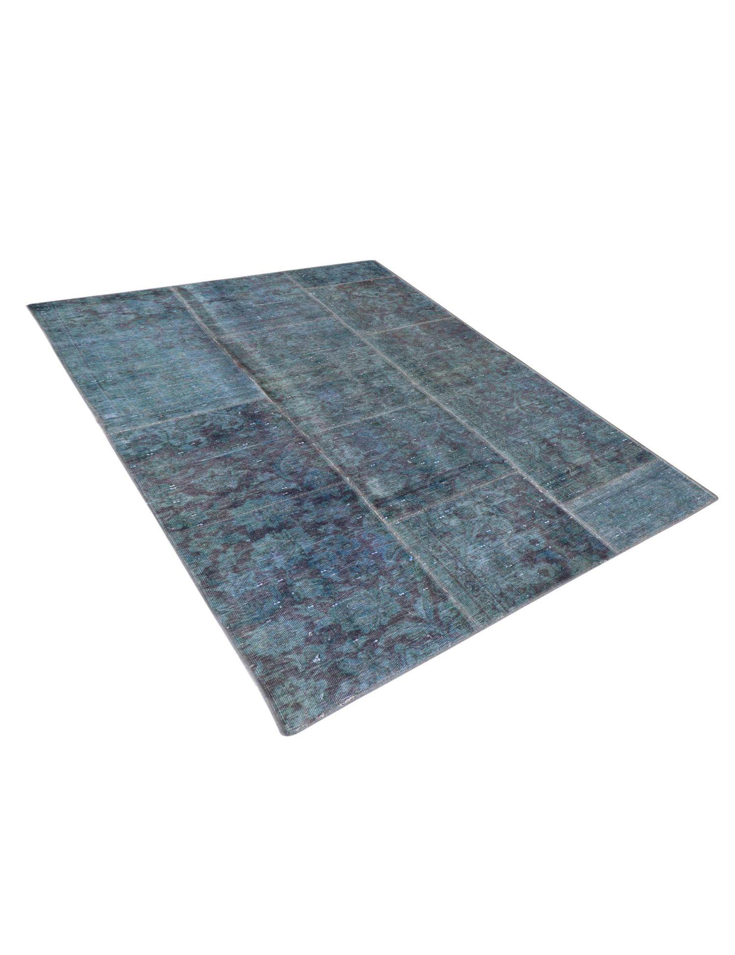 Patchwork Carpet  blue <br/>204 x 133 cm