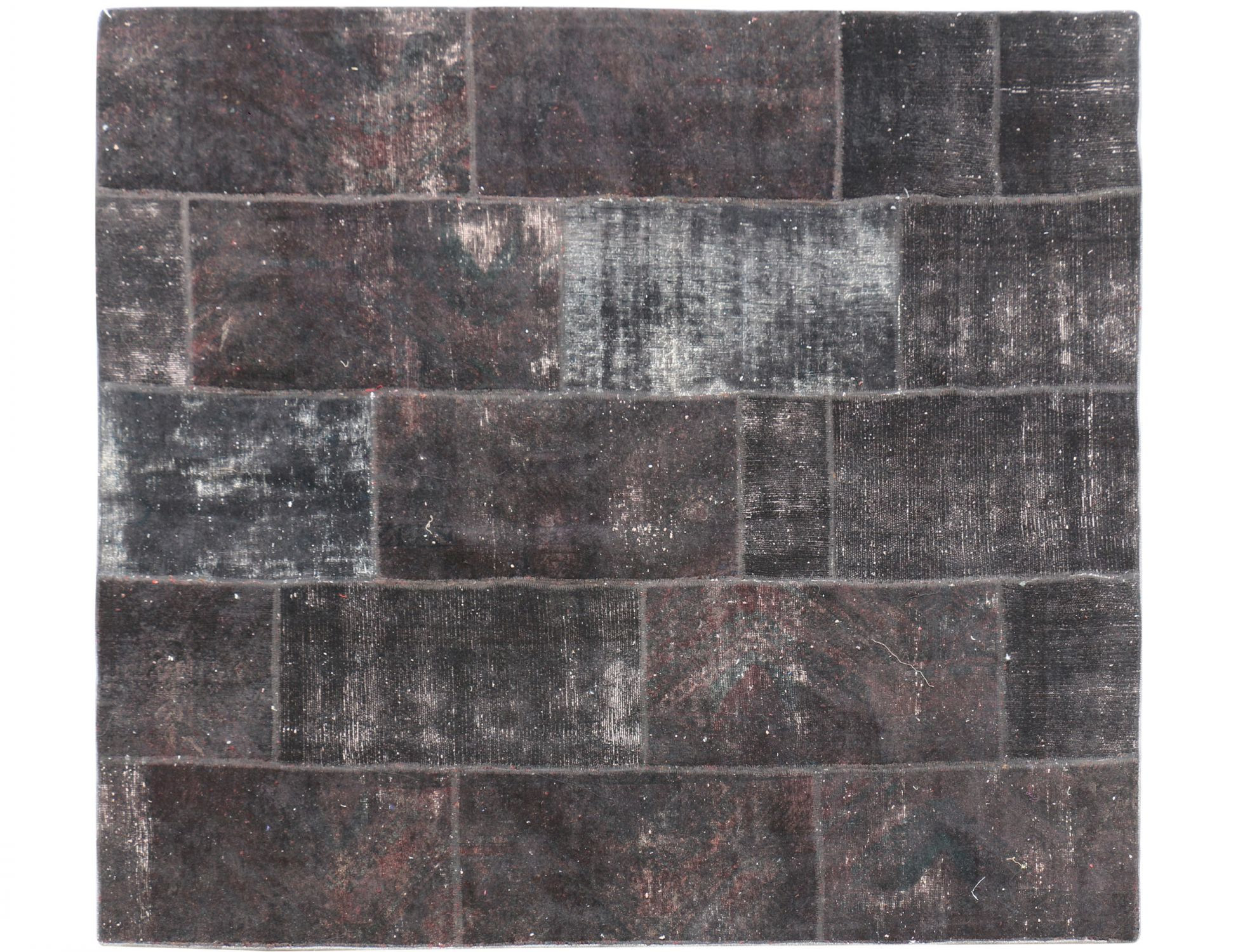Tappeto Patchwork  nero <br/>230 x 202 cm