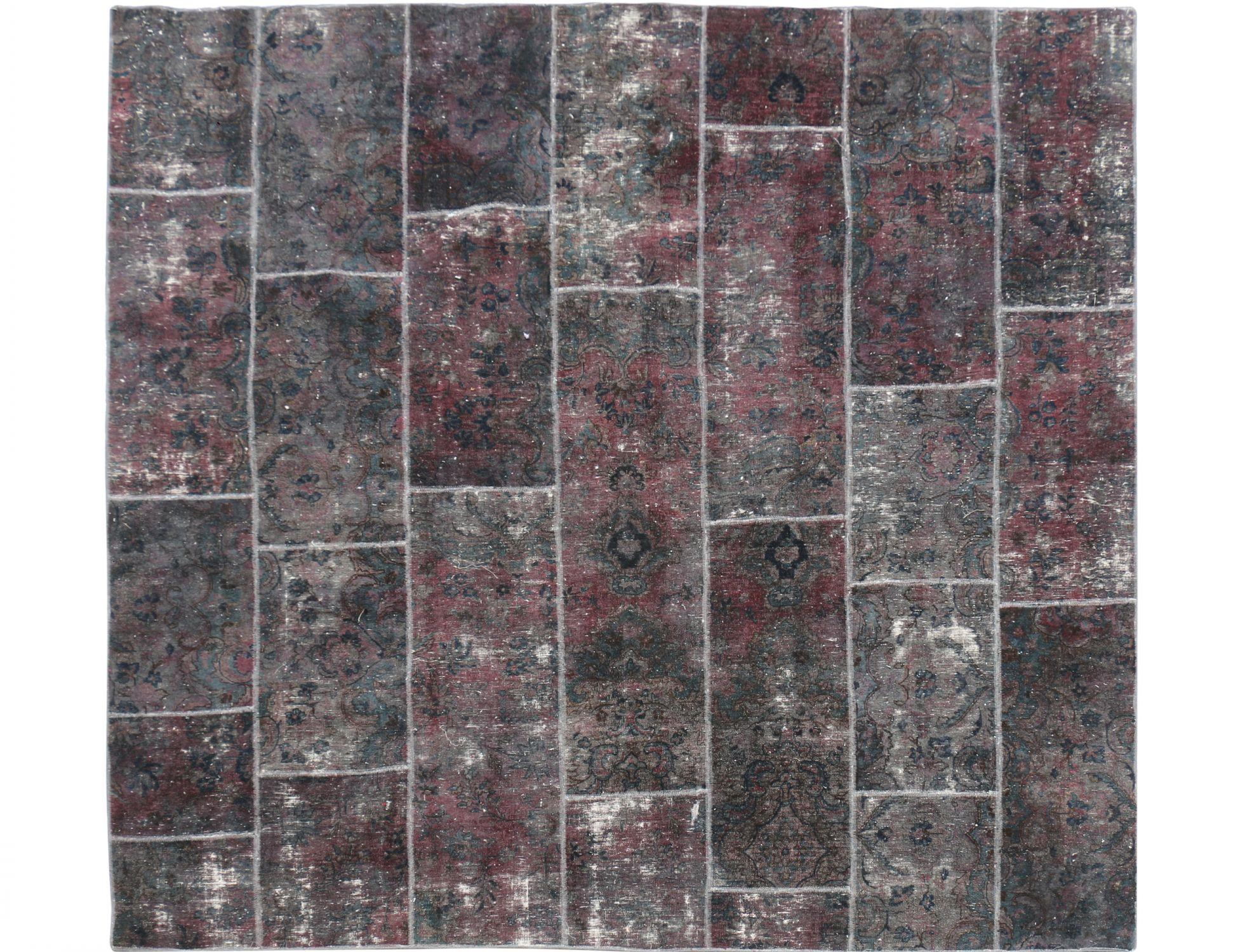 Persisk patchwork tæppe  brun <br/>280 x 180 cm