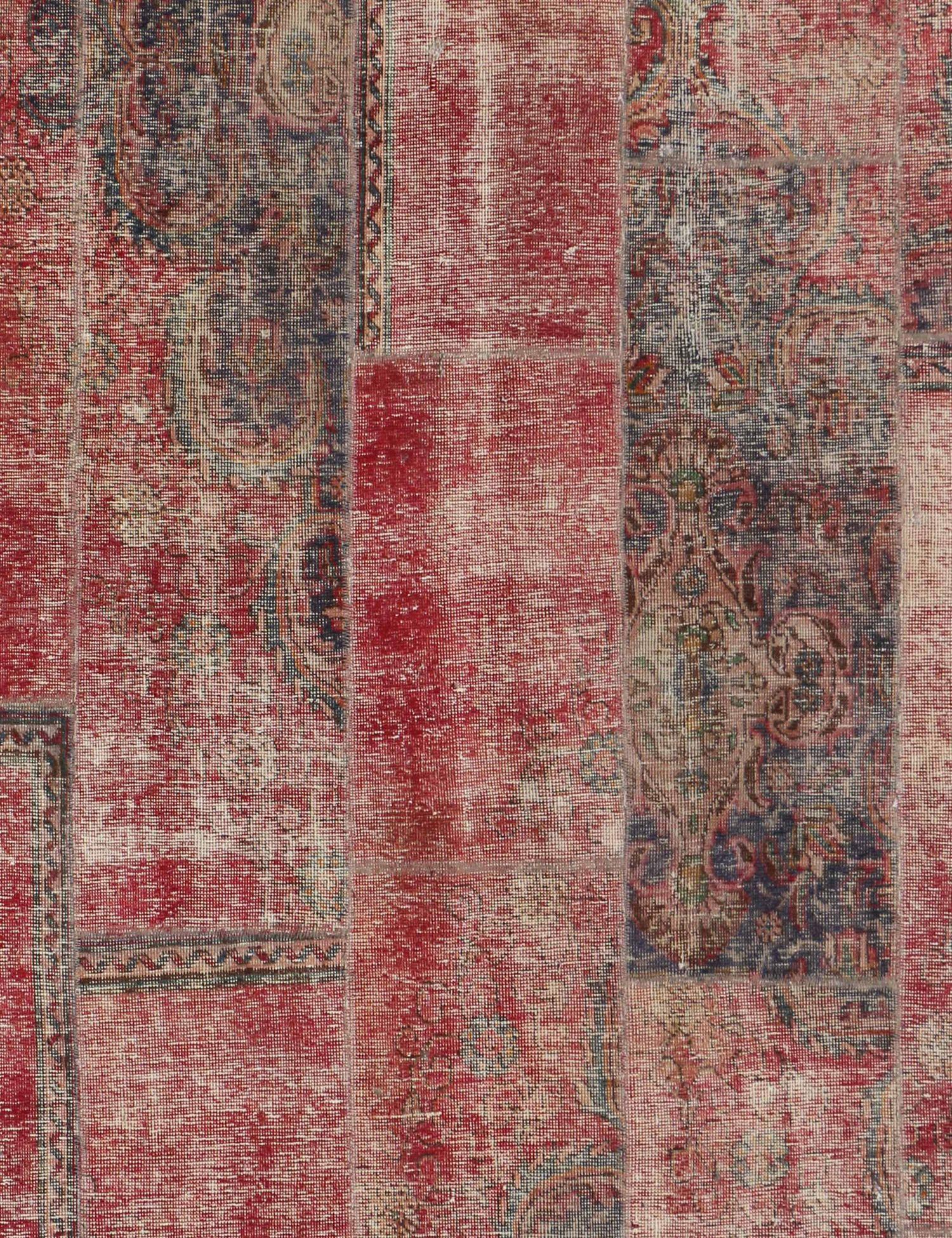Patchwork Carpet  red  <br/>210 x 200 cm