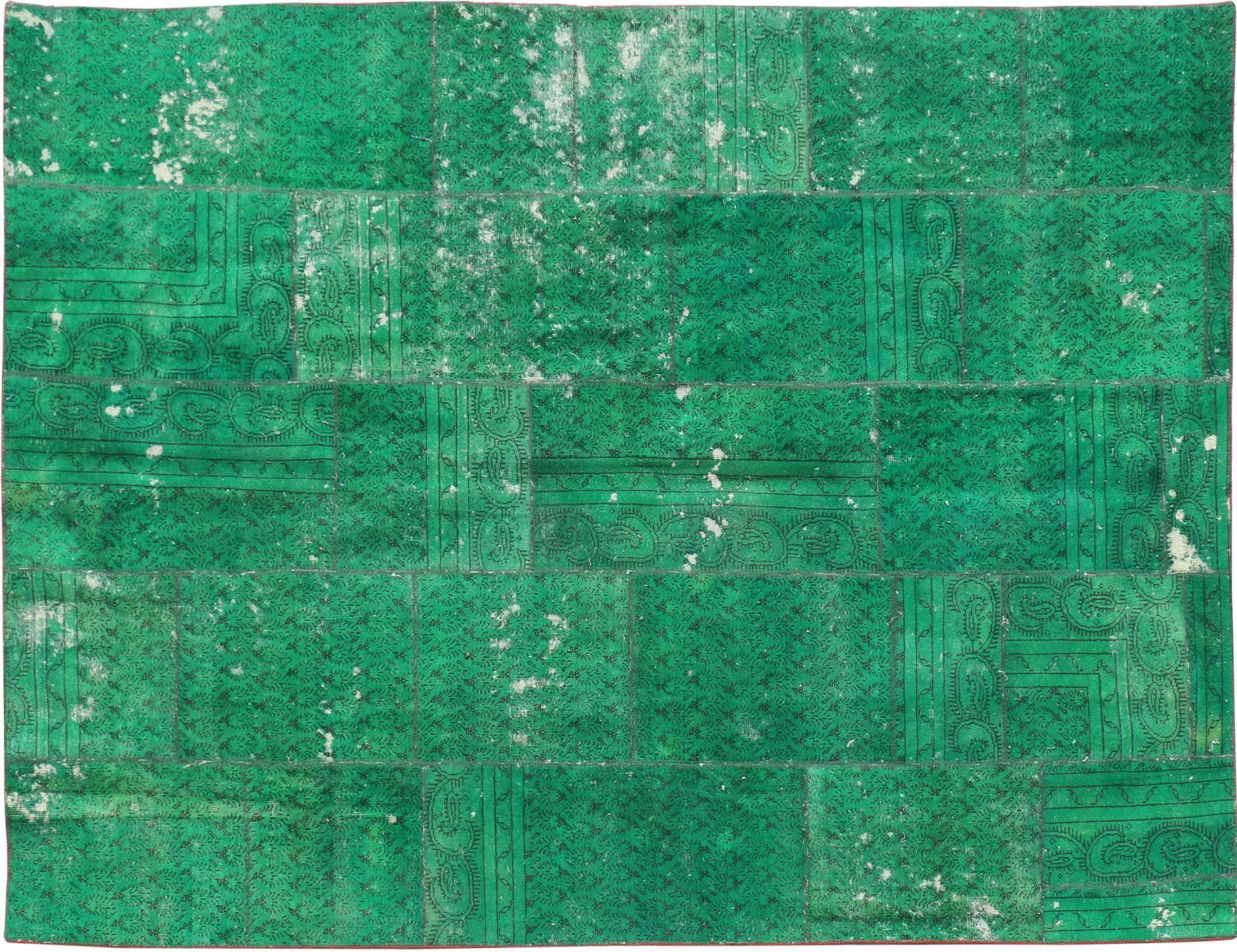 Tappeto Patchwork  verde <br/>362 x 223 cm