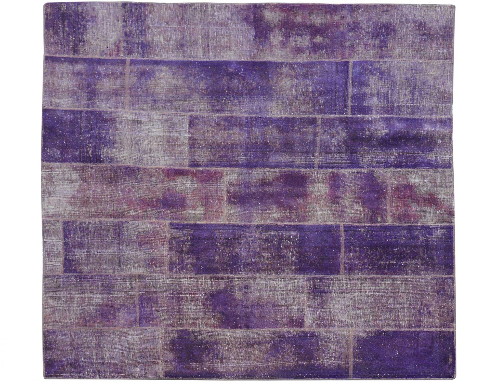 Tappeto Patchwork  viola <br/>245 x 213 cm