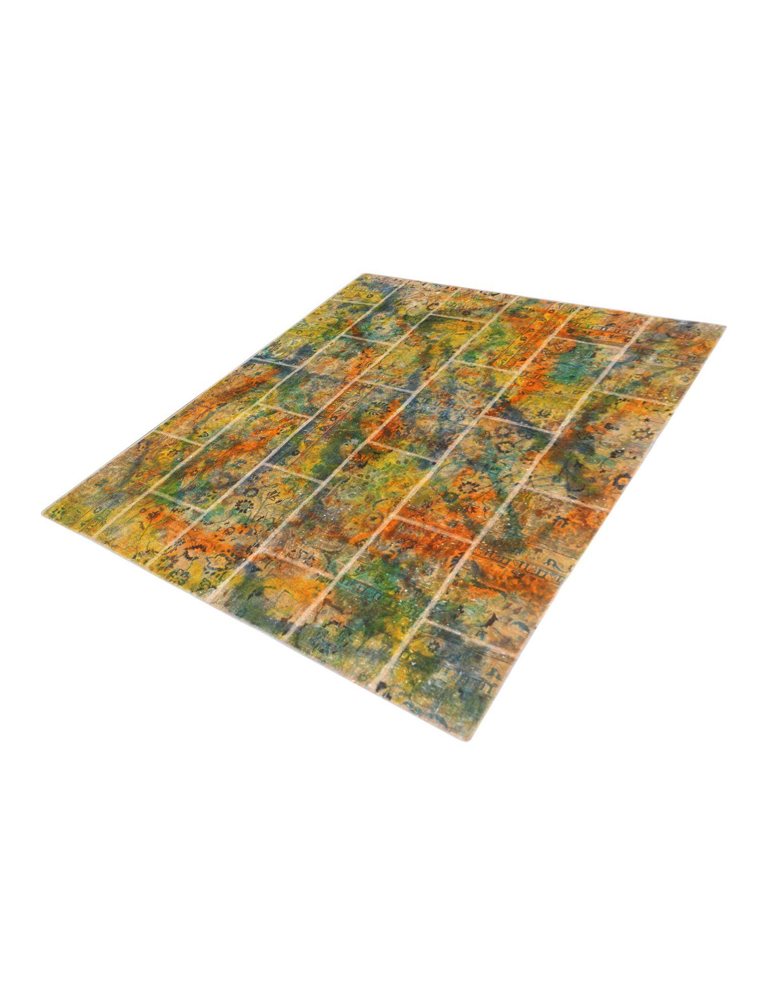 Patchwork Teppich  mehrfarbig <br/>210 x 185 cm