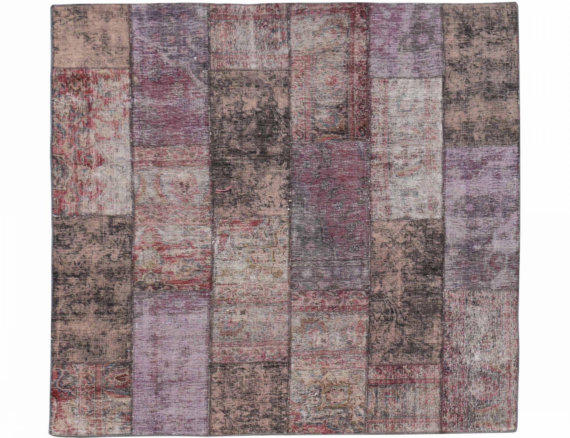 Perzisch Patchwork Tapijt  purper <br/>209 x 207 cm