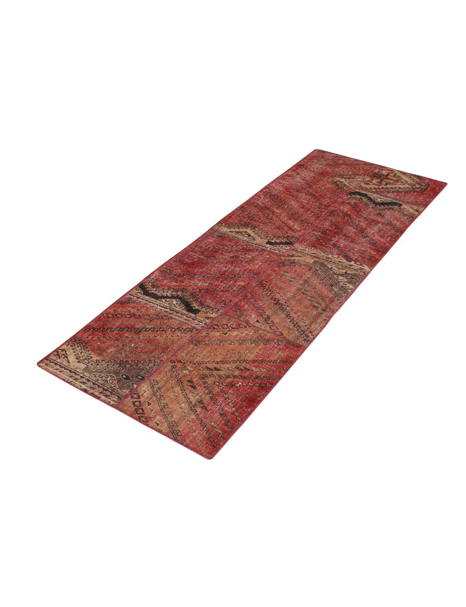 Perzisch Patchwork Tapijt  rood <br/>250 x 72 cm