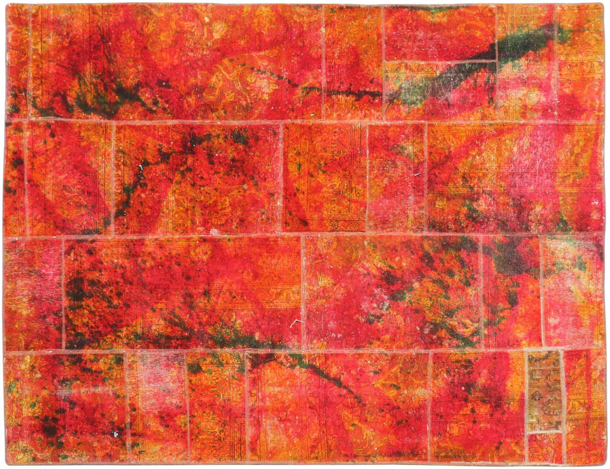 Perzisch Patchwork Tapijt  multi kleur <br/>256 x 193 cm