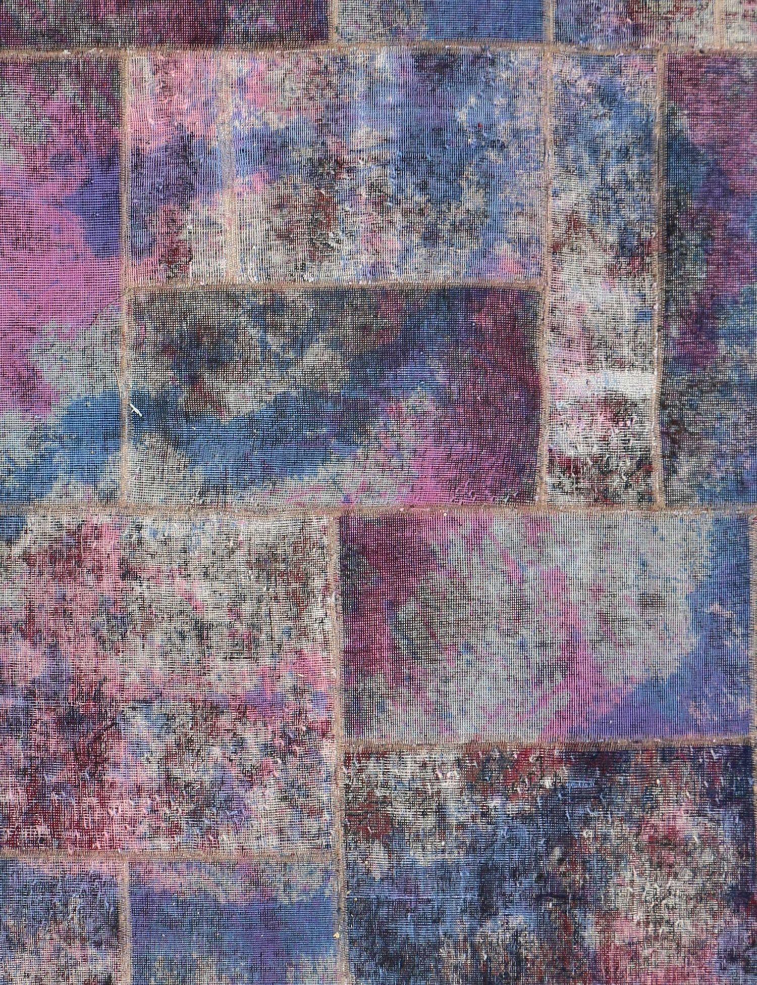 Persian Patchwork Carpet  blue <br/>220 x 153 cm