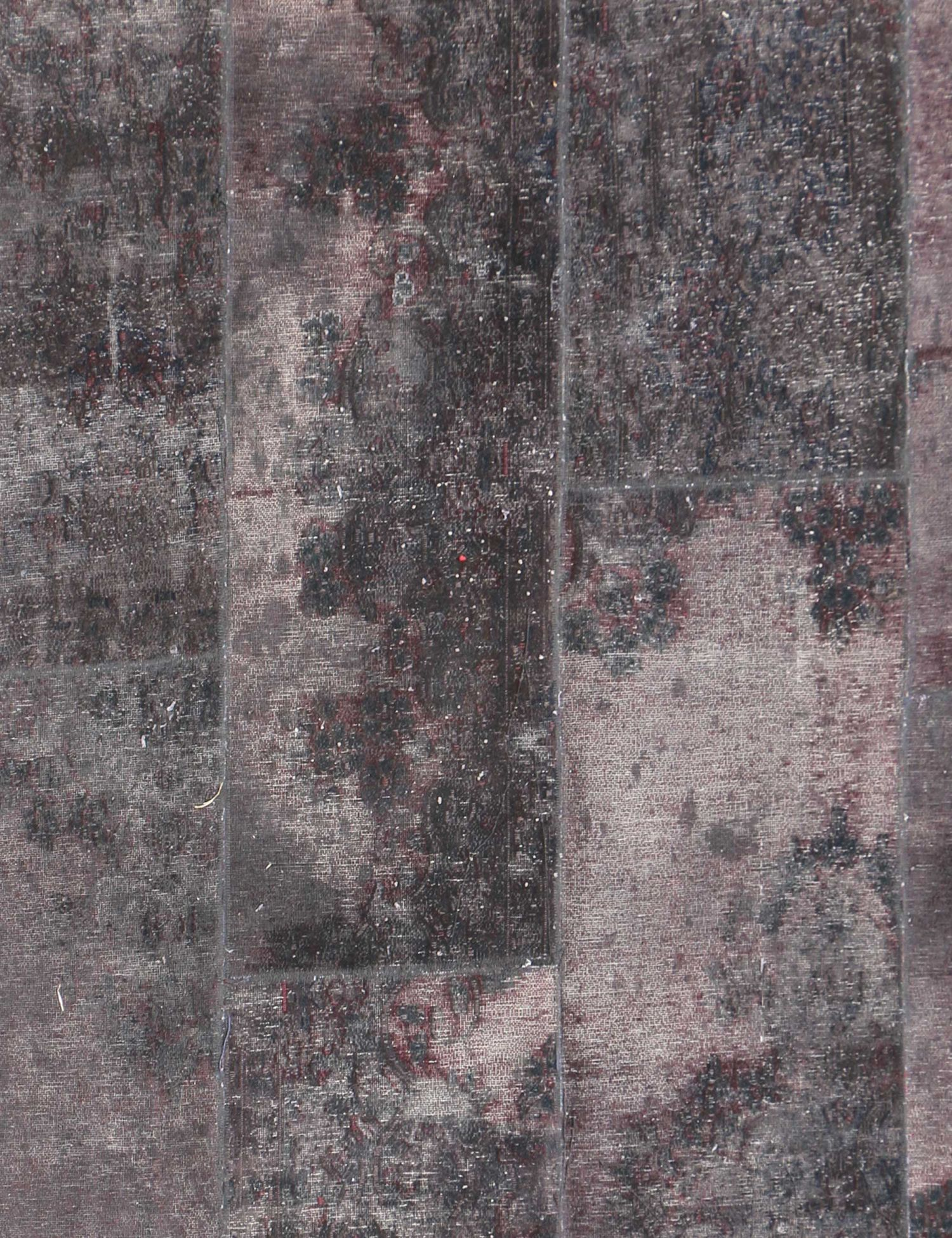 Patchwork tæppe  lilla <br/>297 x 197 cm